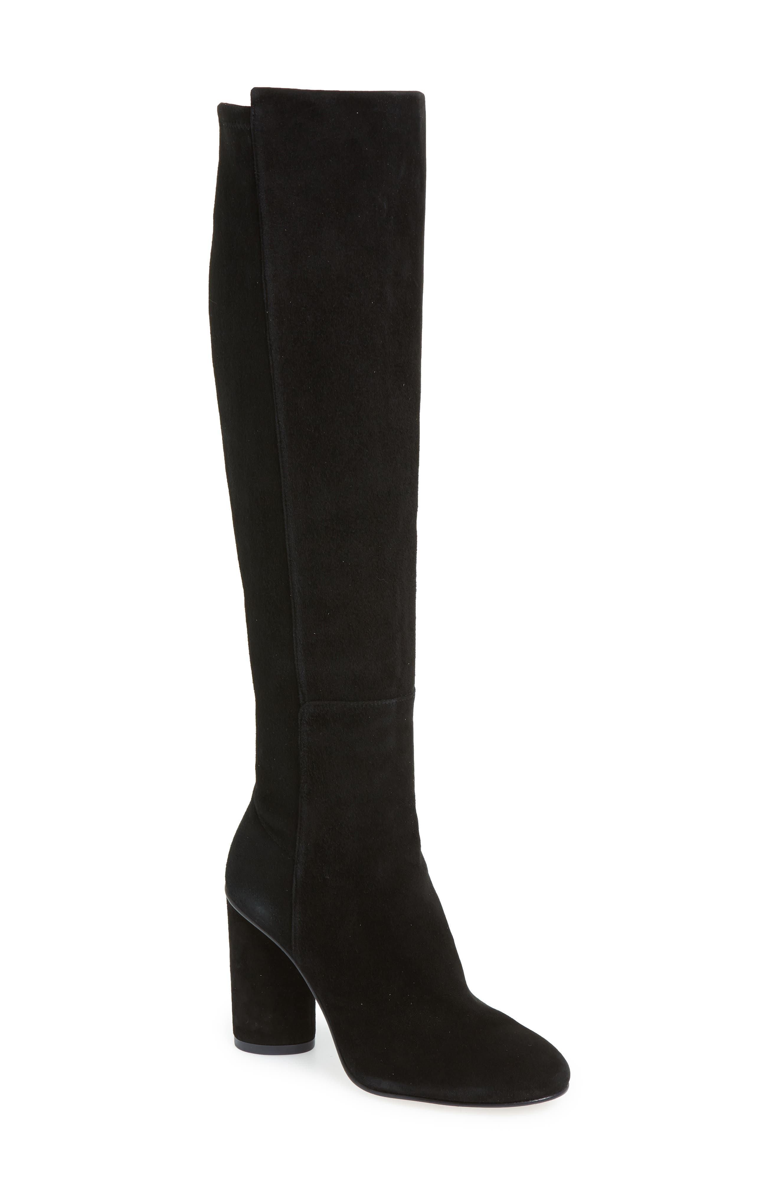 Eloise Over the Knee Boot,                             Main thumbnail 1, color,                             BLACK SUEDE