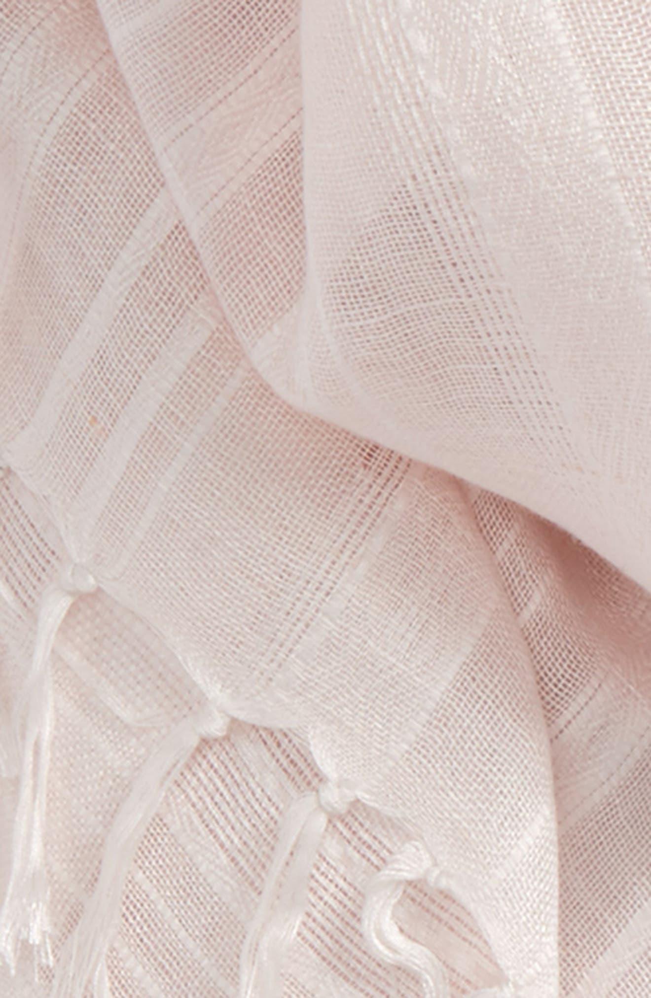 Solid Linen Blend Scarf,                             Alternate thumbnail 21, color,