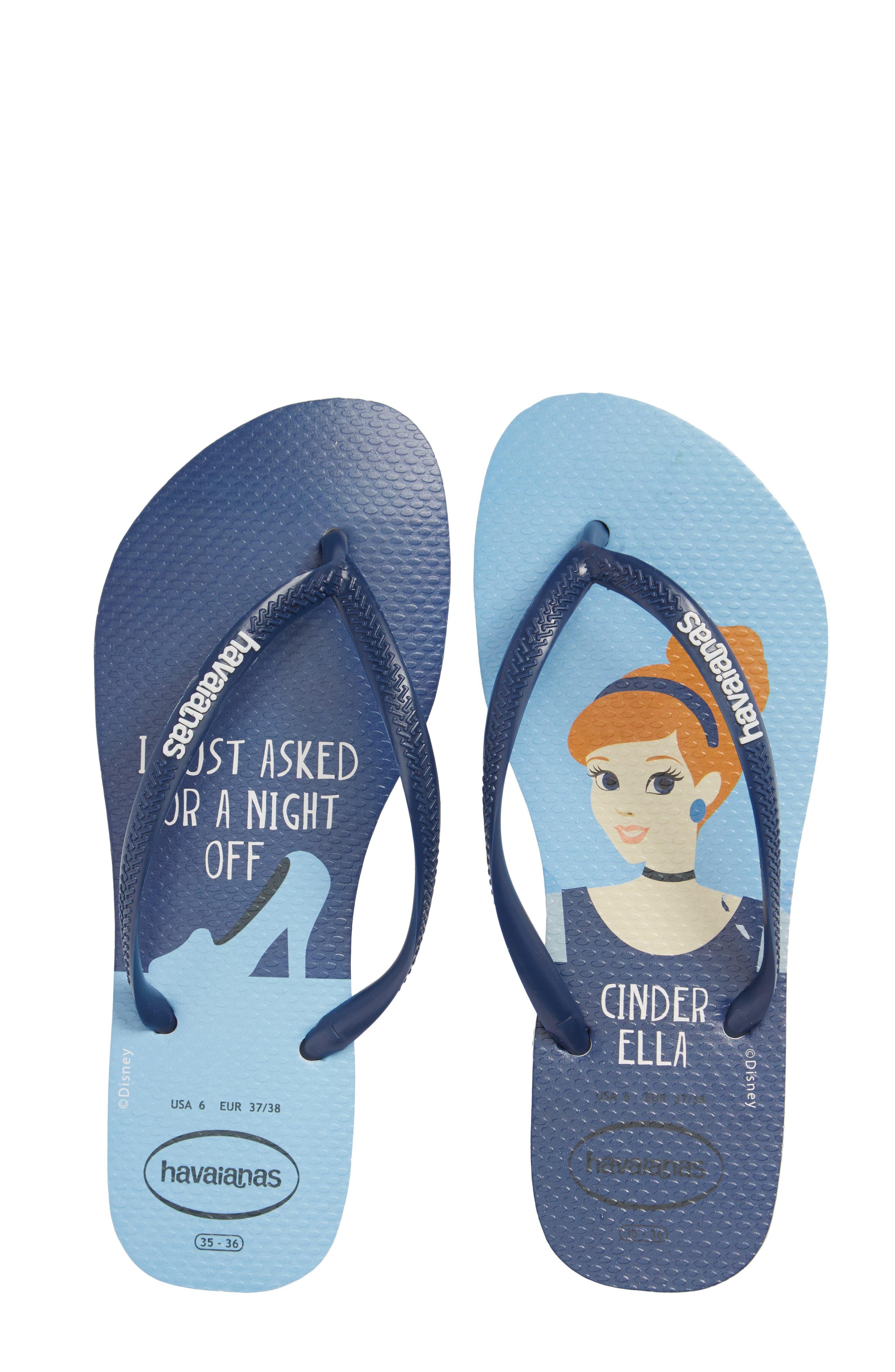 Havaiana Slim - Disney Princess Flip Flop,                             Alternate thumbnail 5, color,                             401