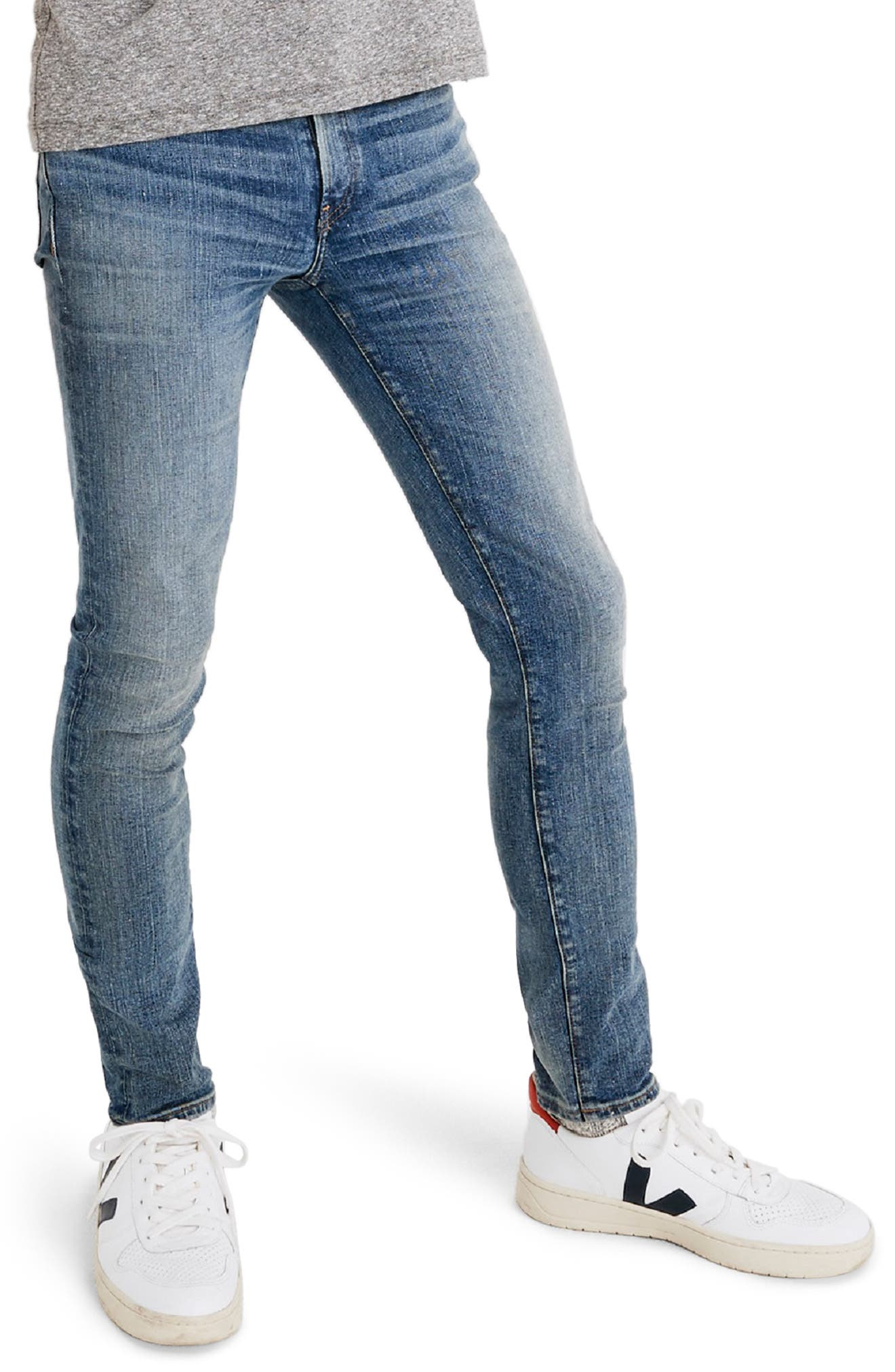 Skinny Jeans,                         Main,                         color, BAYWOOD WASH