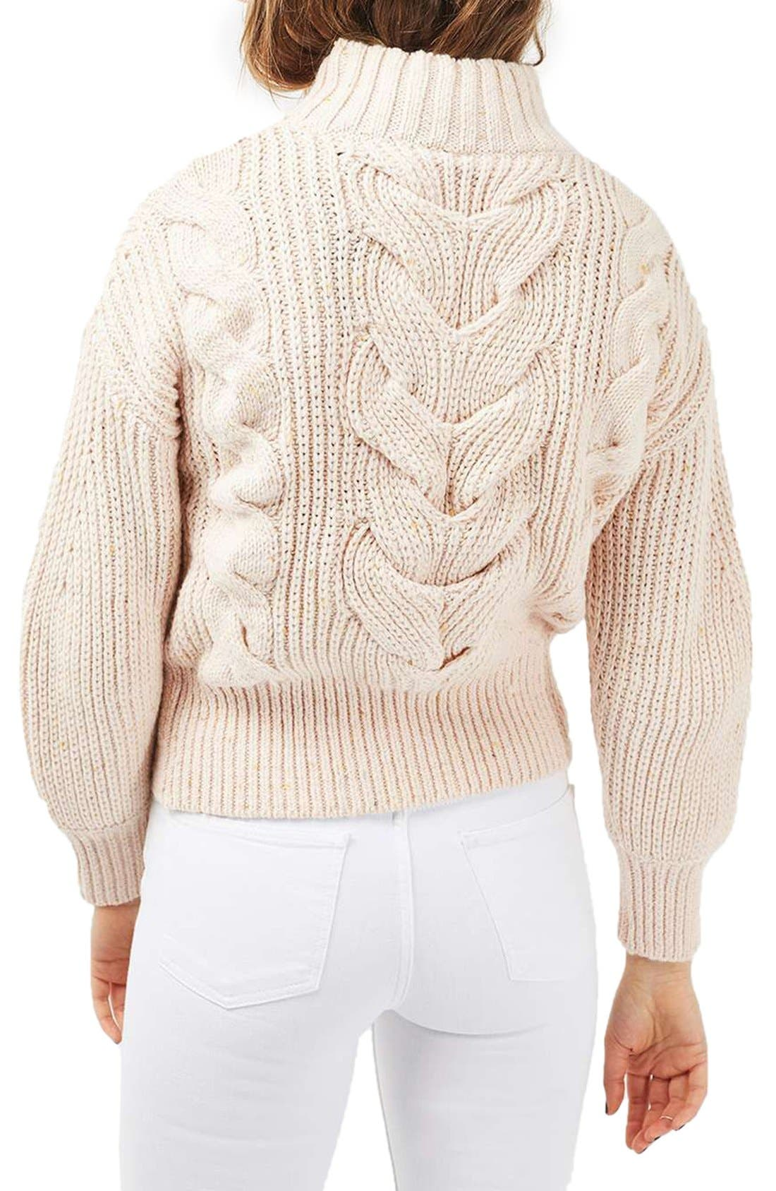 Cable Knit Sweater,                             Alternate thumbnail 4, color,                             250