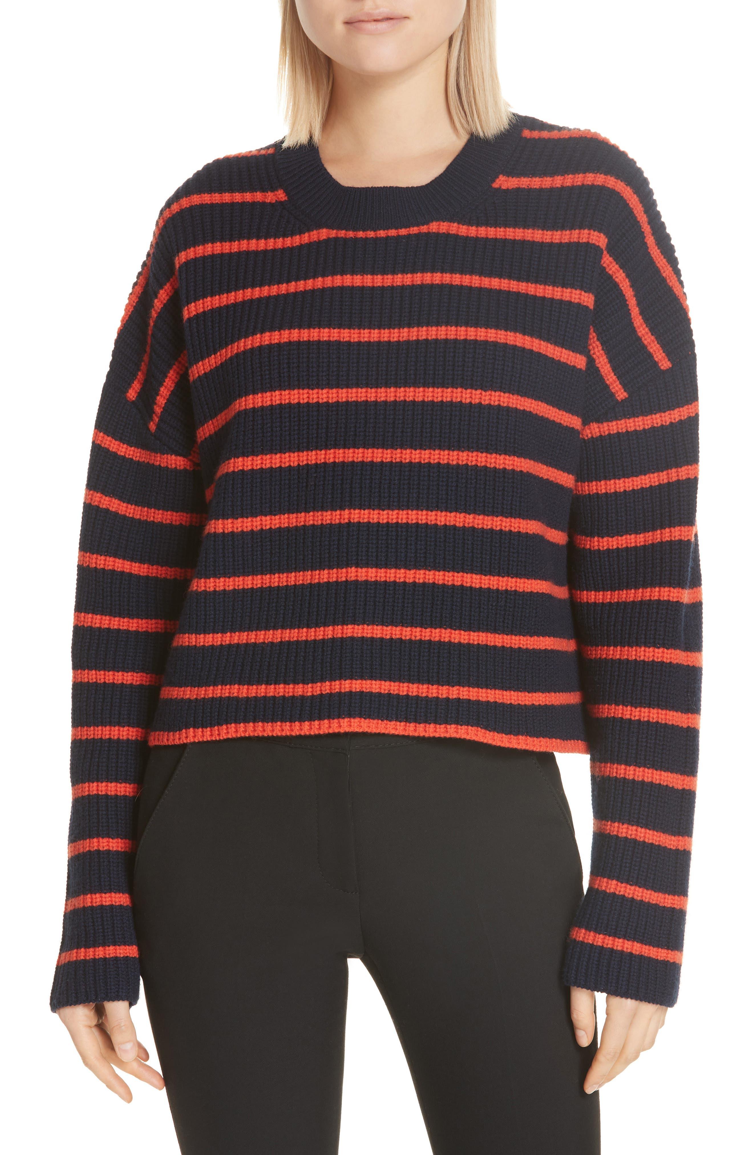 A.l.c. Portland Stripe Merino Wool Sweater, Blue