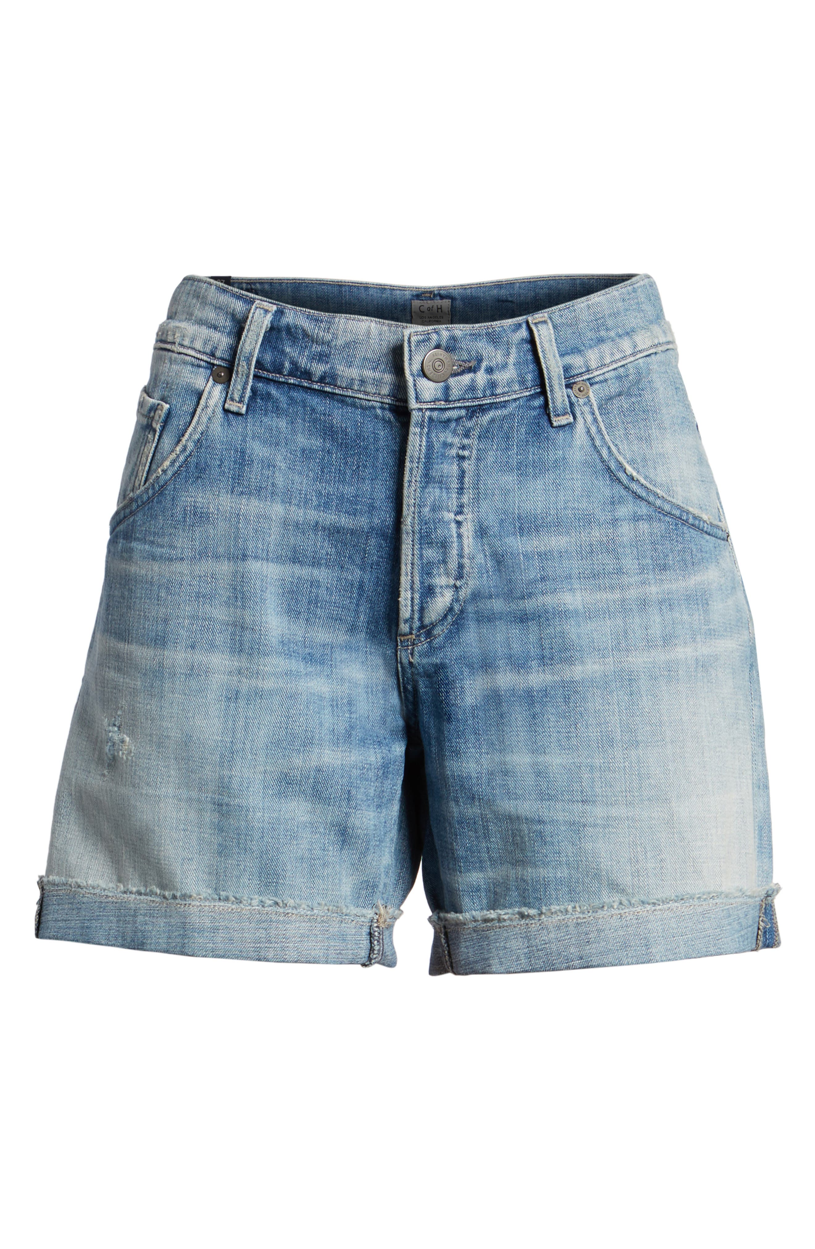 'Skler' Denim Shorts,                             Main thumbnail 1, color,                             451