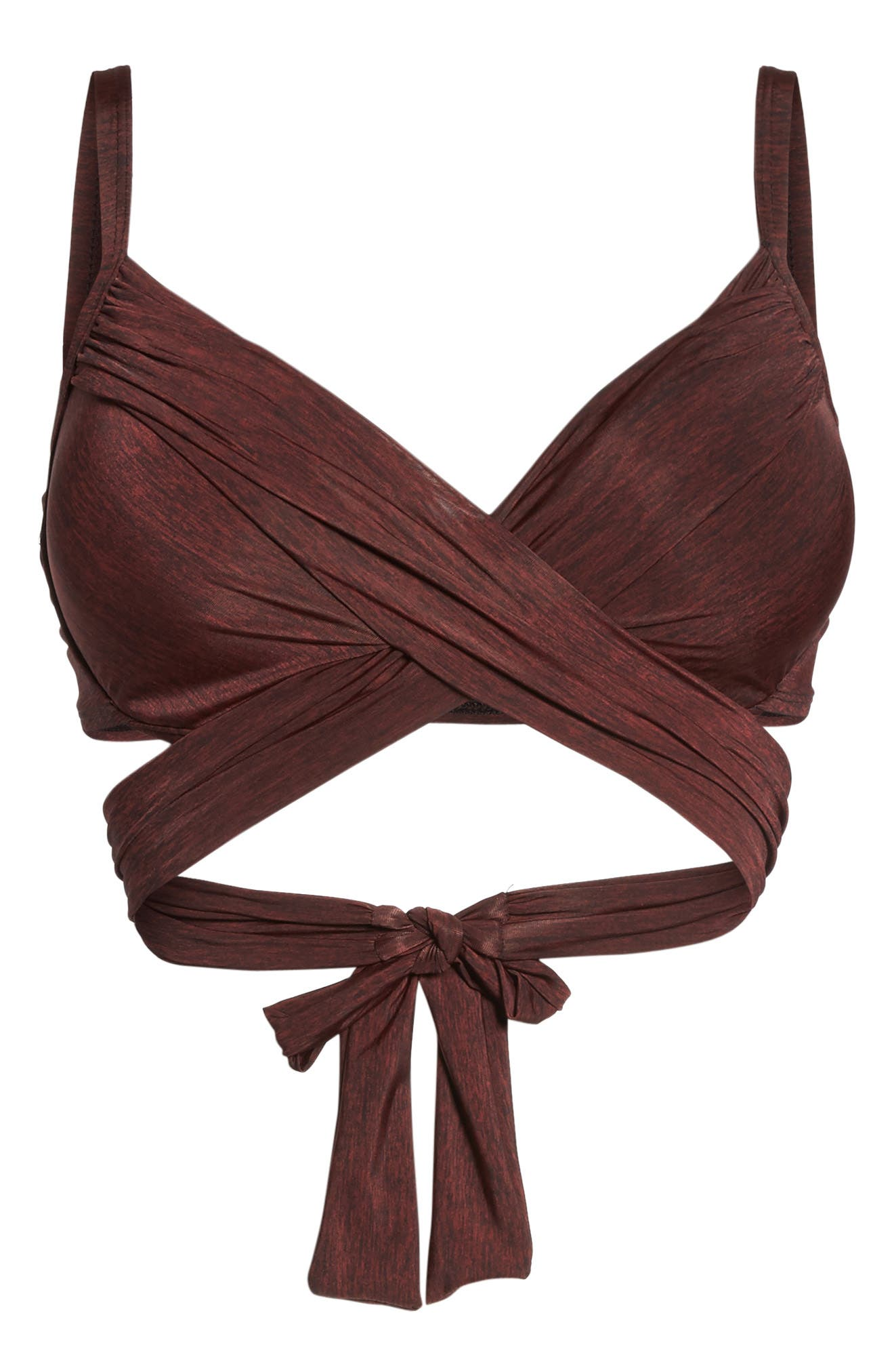L'Amour Wrap Push-Up Bikini Top,                             Alternate thumbnail 6, color,                             610