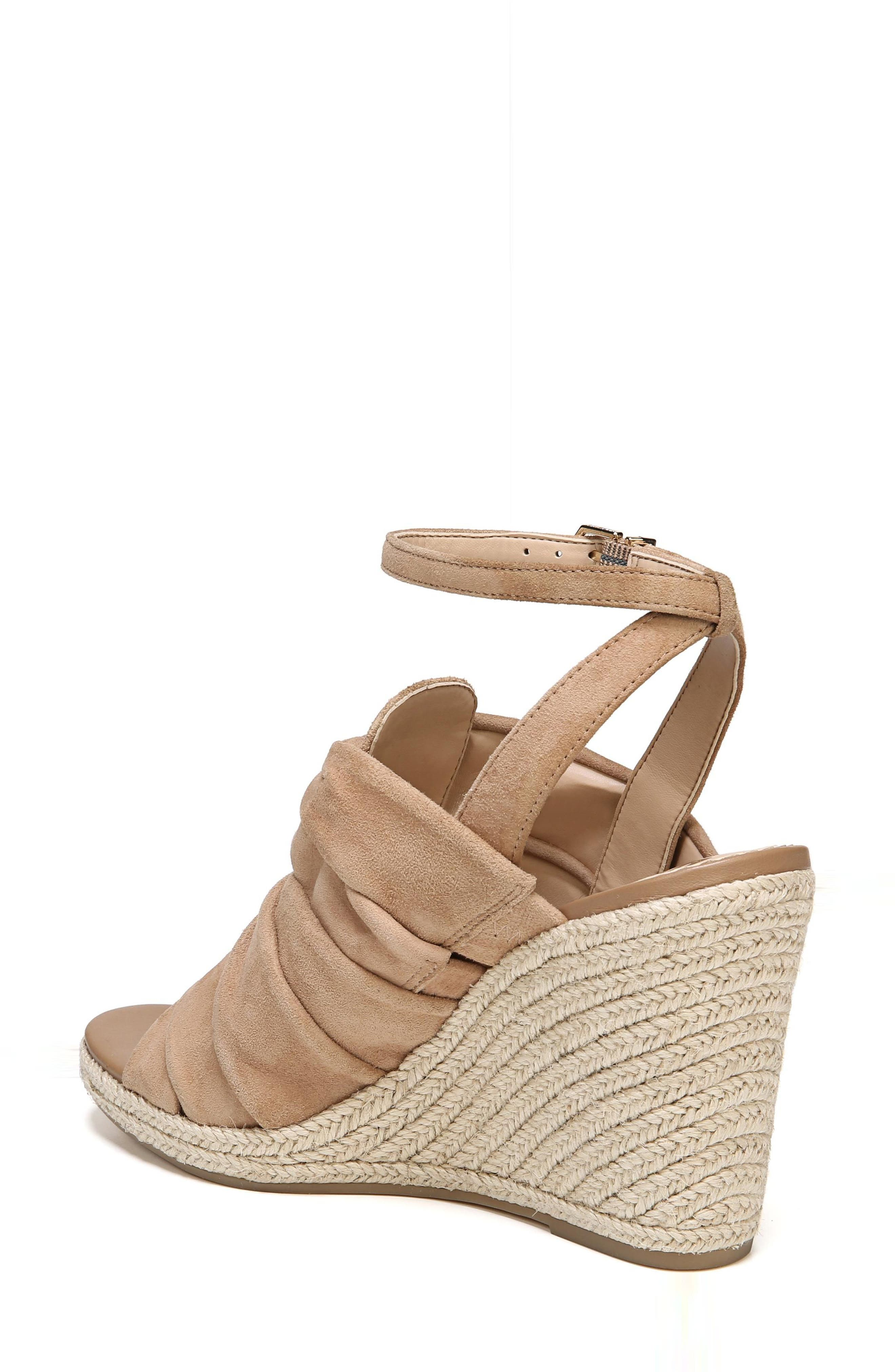 Awan Cinched Wedge Sandal,                             Alternate thumbnail 4, color,