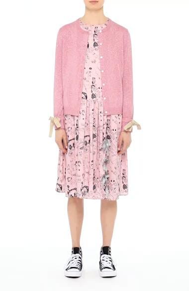 Heather Print Silk Dress, video thumbnail