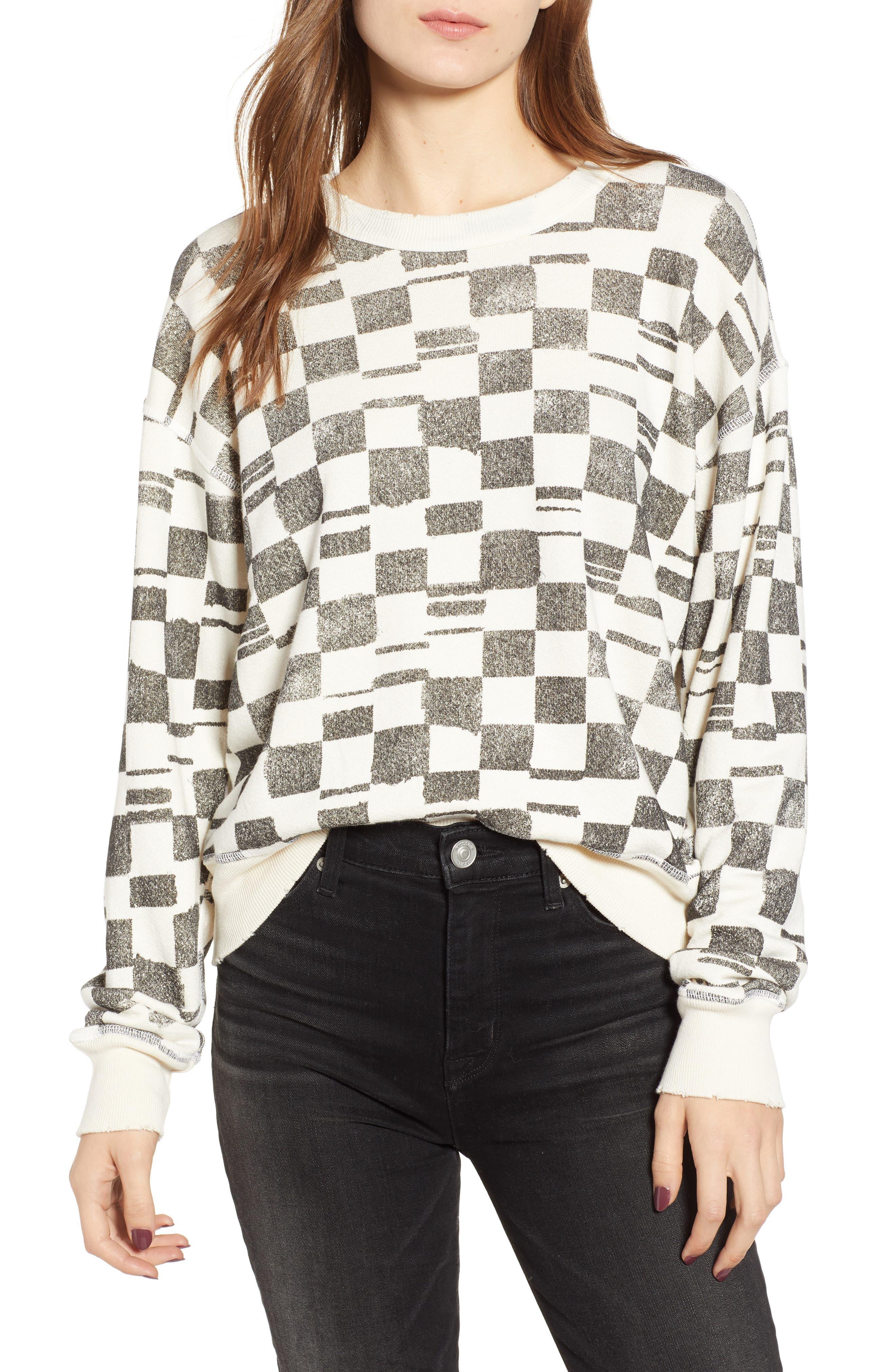 N:PHILANTHROPY Lauren Pullover in Black Checkered