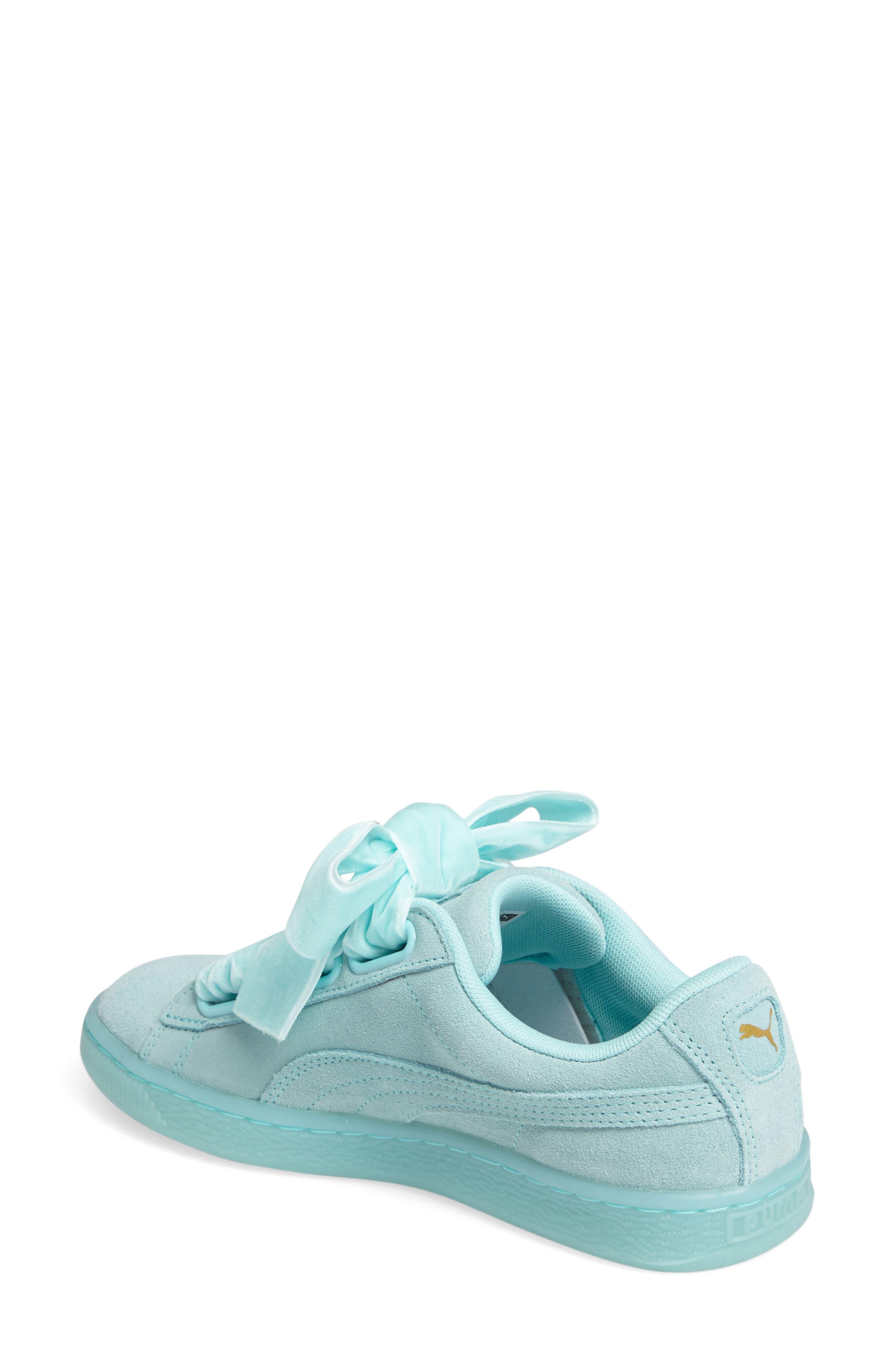 Suede - Heart Sneaker,                             Alternate thumbnail 13, color,