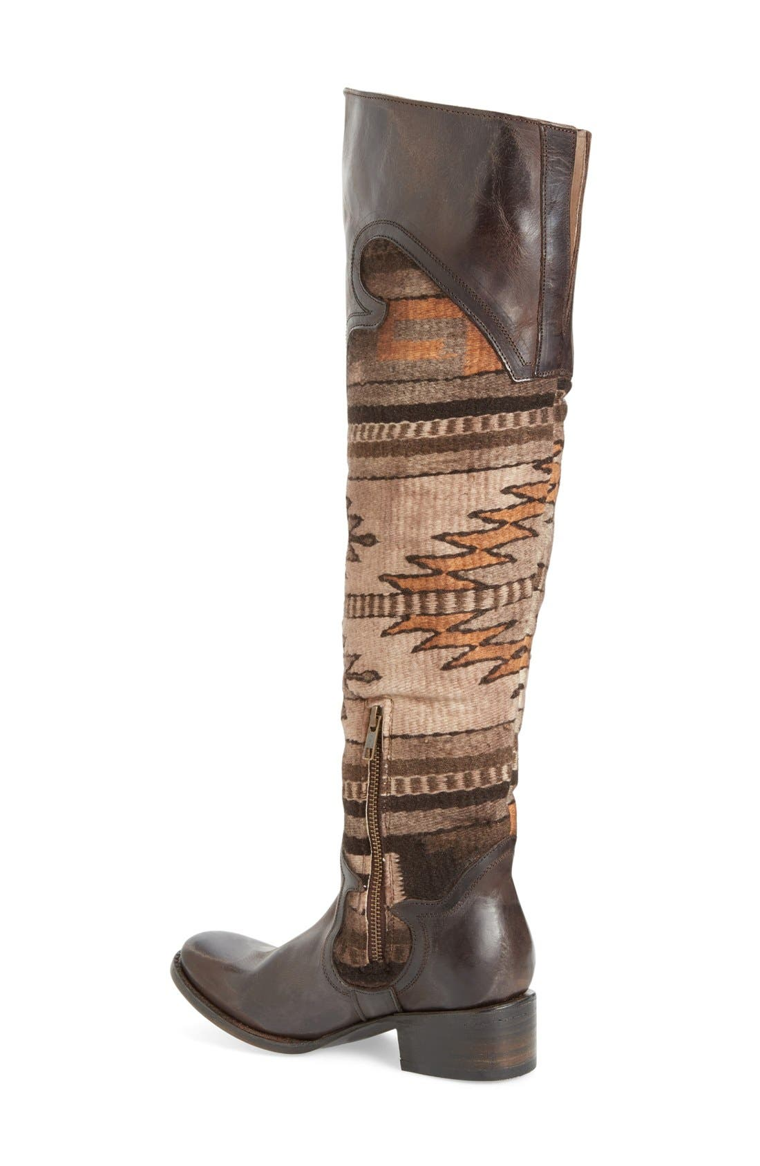 Sun Over the Knee Boot,                             Alternate thumbnail 4, color,