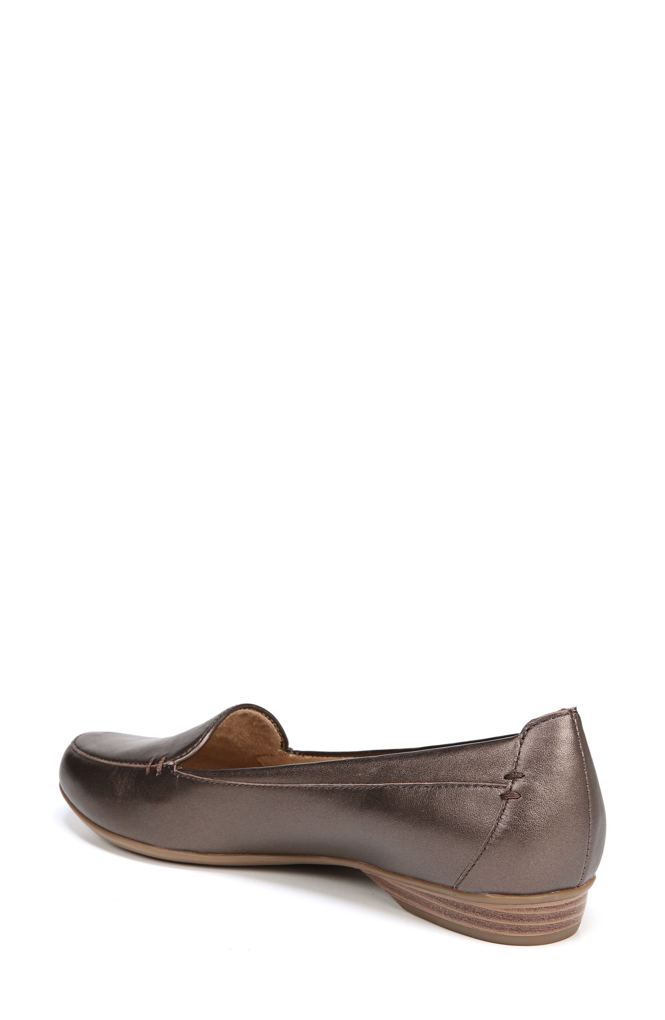 'Saban' Leather Loafer,                             Alternate thumbnail 2, color,                             BROWN BRONZE LEATHER