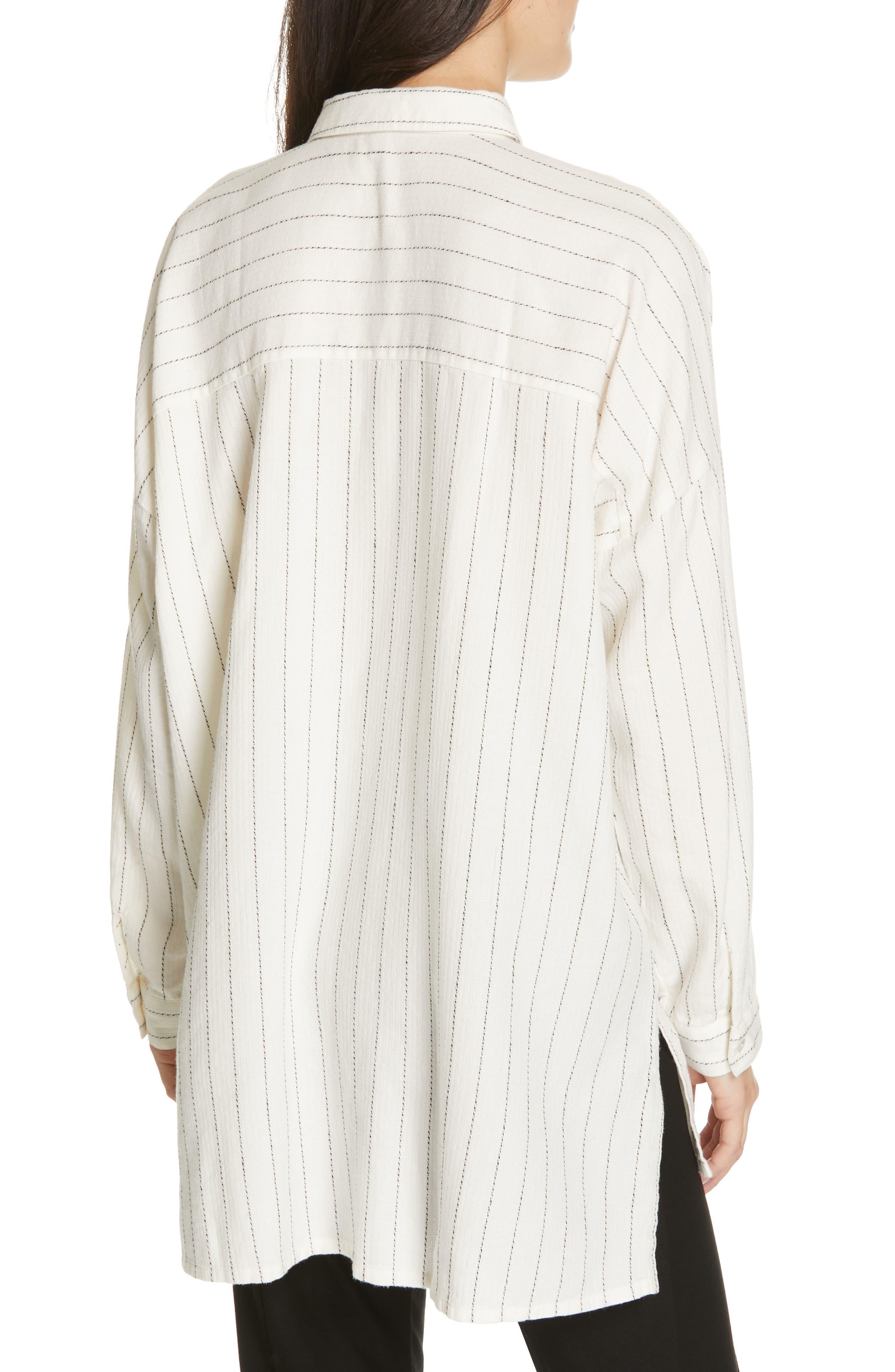 Boxy Stripe Shirt,                             Alternate thumbnail 2, color,                             ECRU
