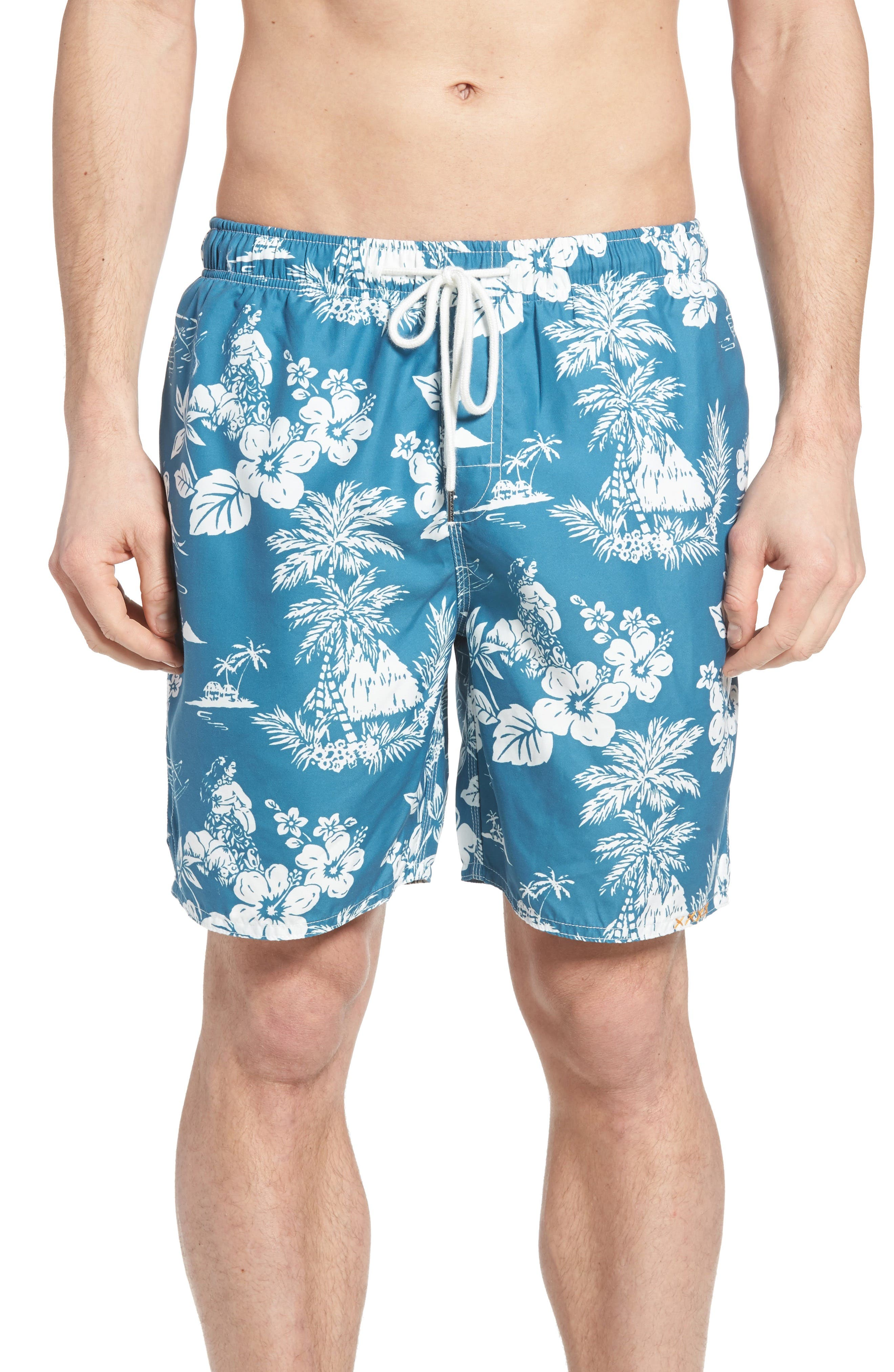 Outrigger Print Swim Trunks,                         Main,                         color, 400