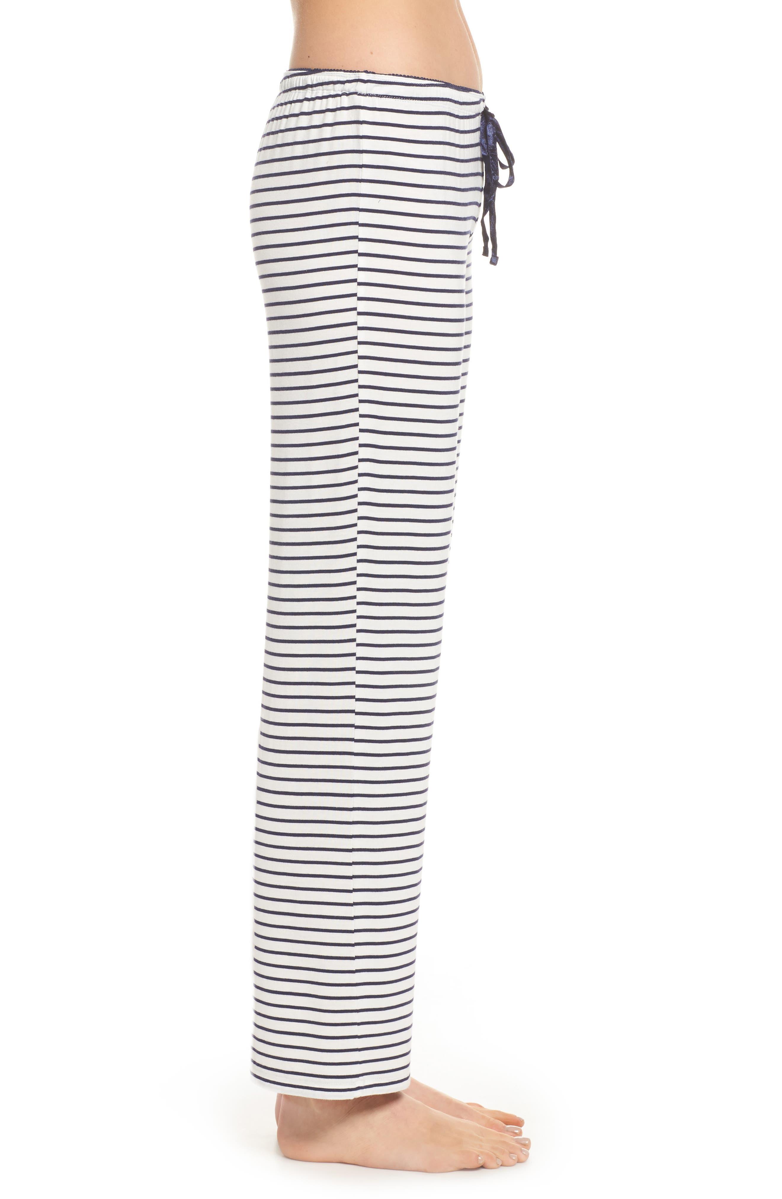 Stripe Pajama Pants,                             Alternate thumbnail 3, color,                             900