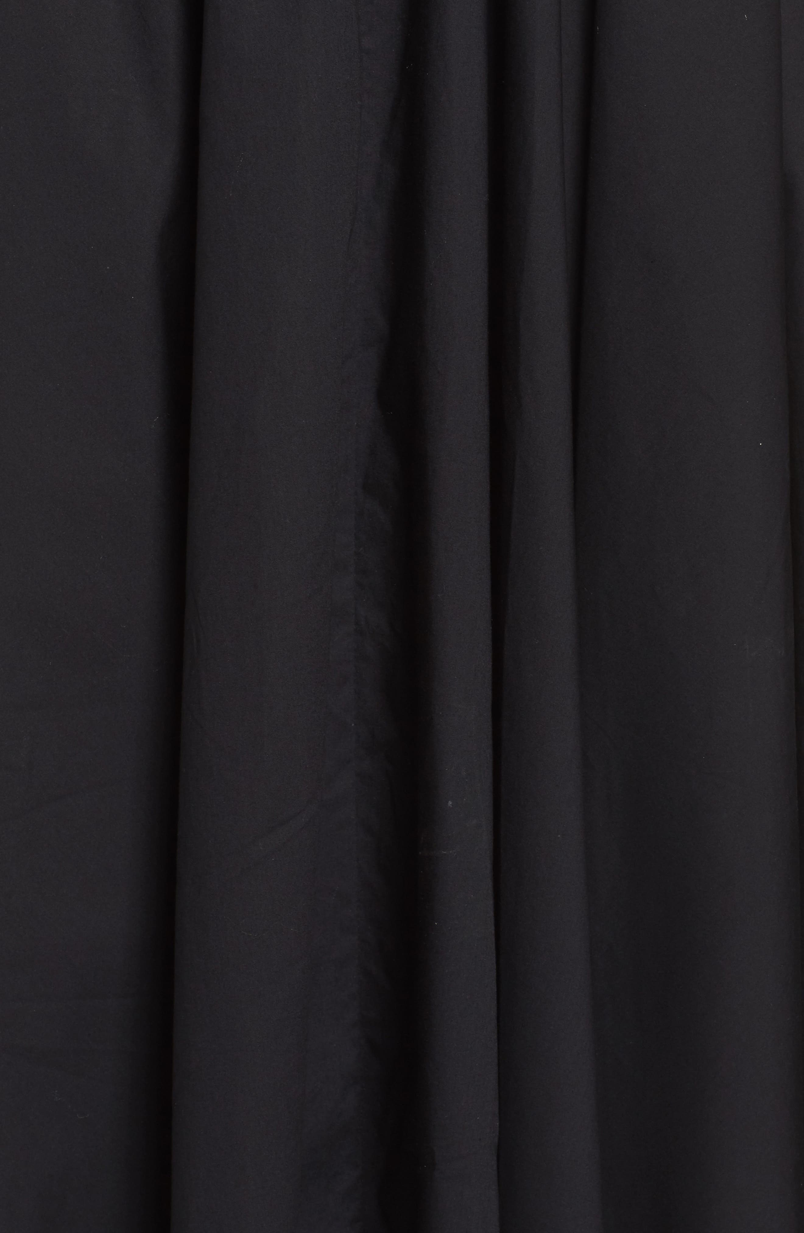 One-Shoulder Fit & Flare Dress,                             Alternate thumbnail 5, color,                             001