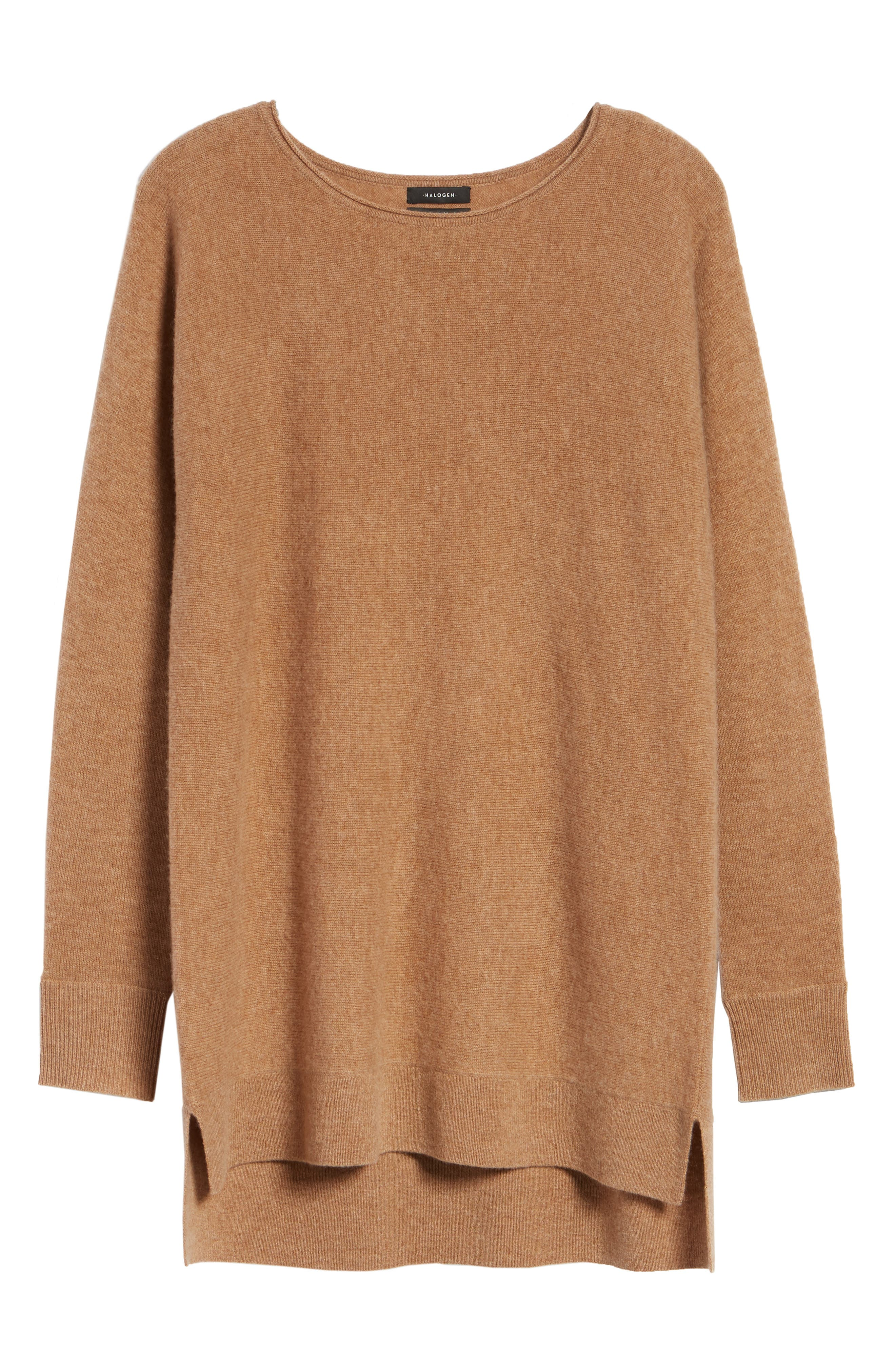 High/Low Wool & Cashmere Tunic Sweater,                             Alternate thumbnail 104, color,