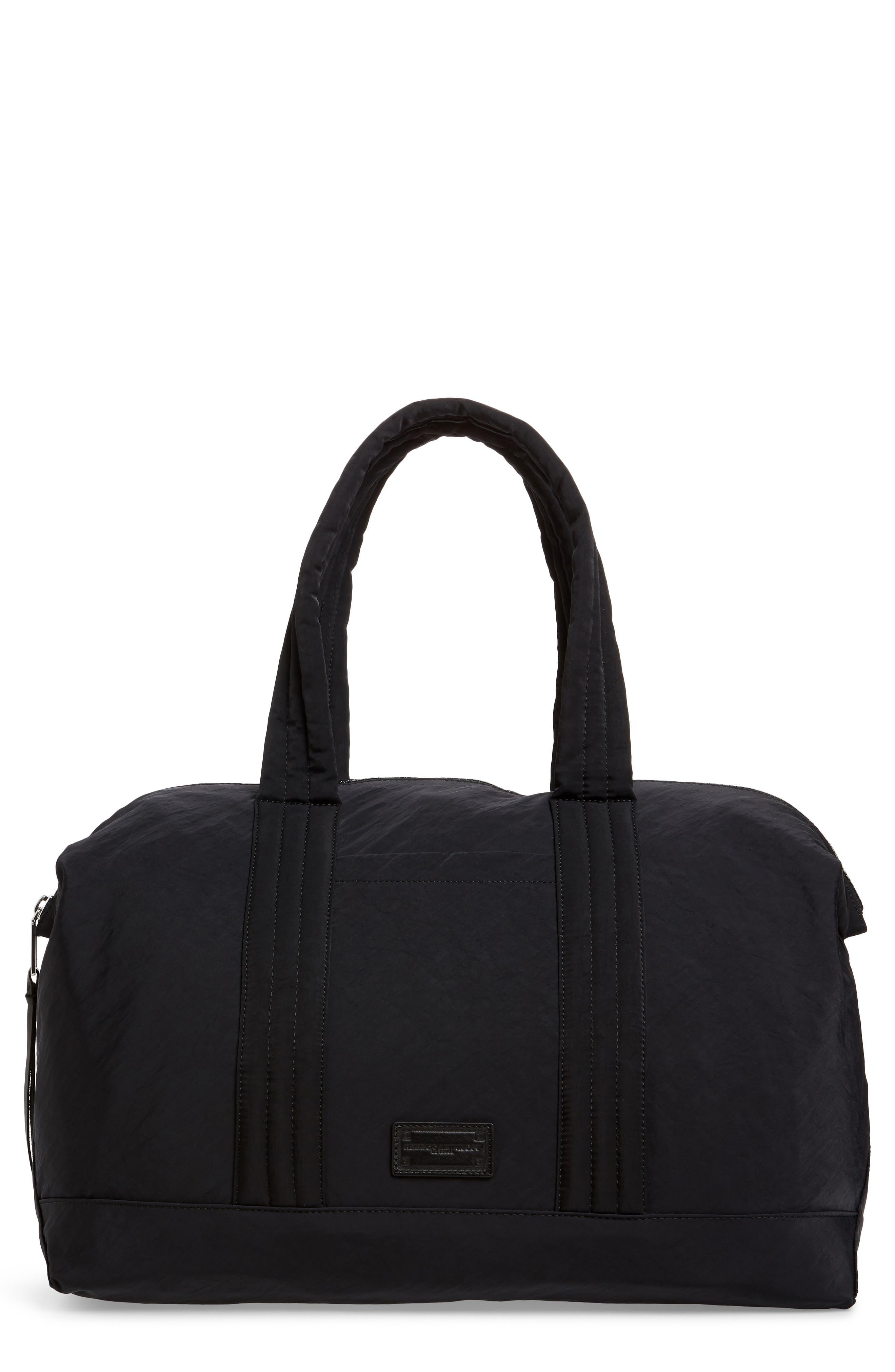 Weekend Nylon Duffel Bag,                         Main,                         color, BLACK