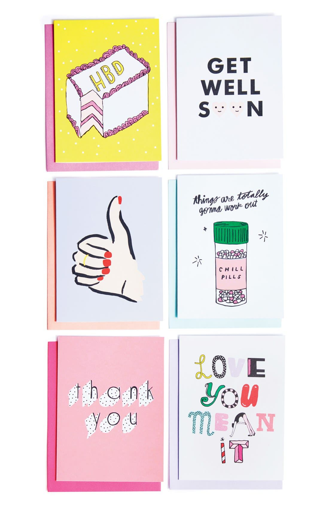 BAN.DO,                             'Hey Girl Hey' Greeting Cards,                             Main thumbnail 1, color,                             650