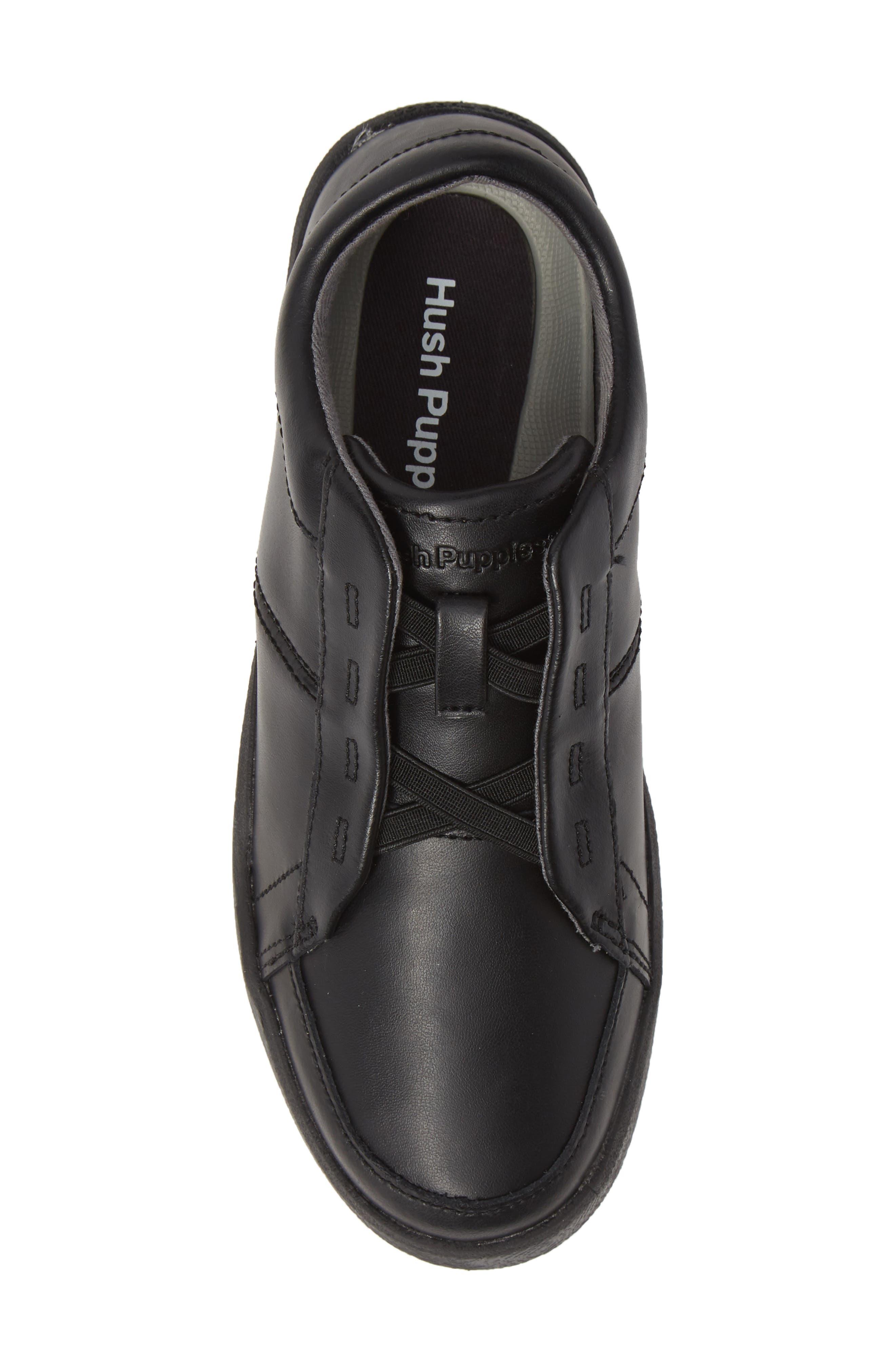 Layden Genius Leather Sneaker,                             Alternate thumbnail 5, color,                             BLACK/ BLACK
