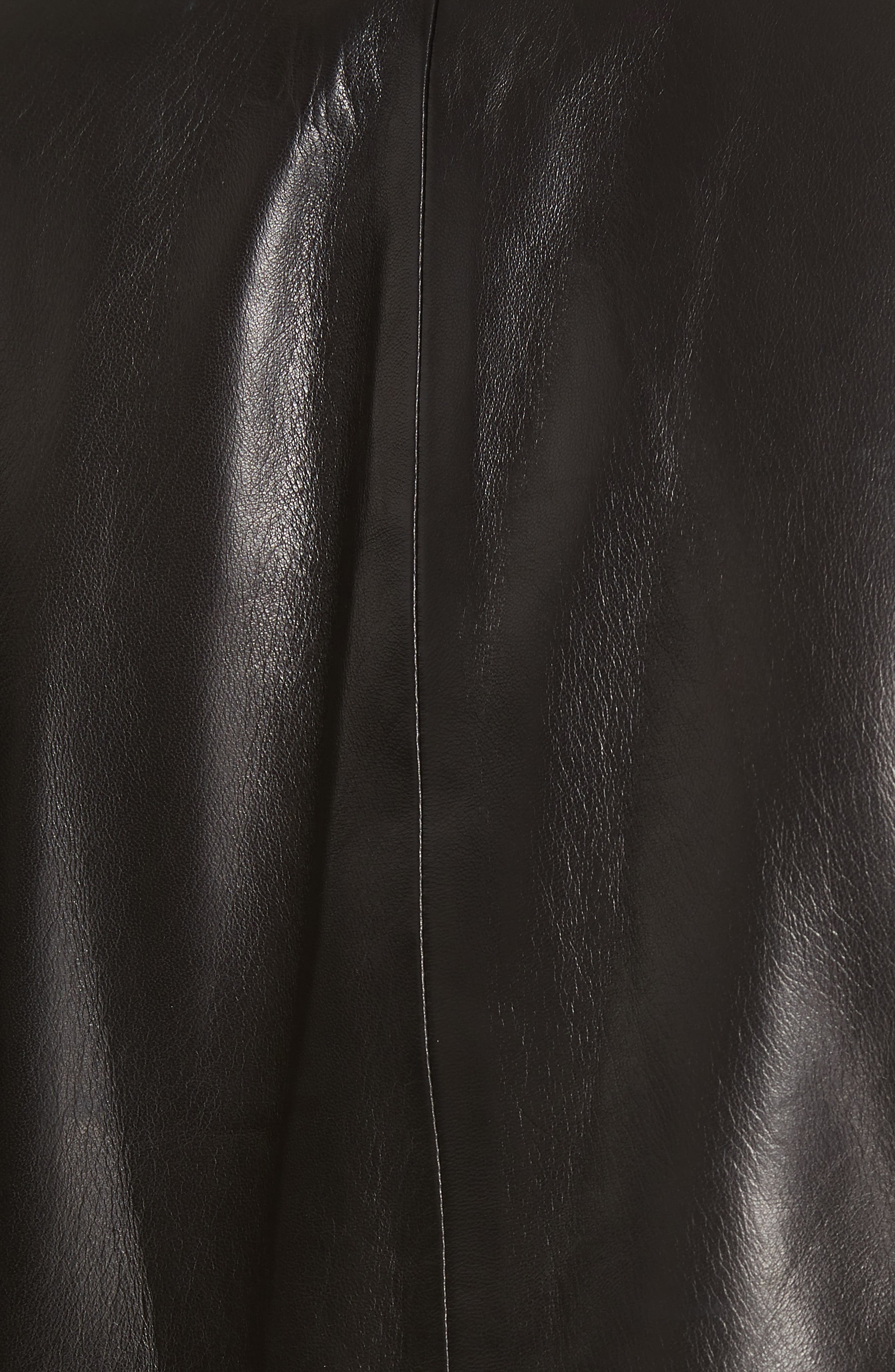 Cooke Leather Dickey Jacket,                             Alternate thumbnail 6, color,                             BLACK