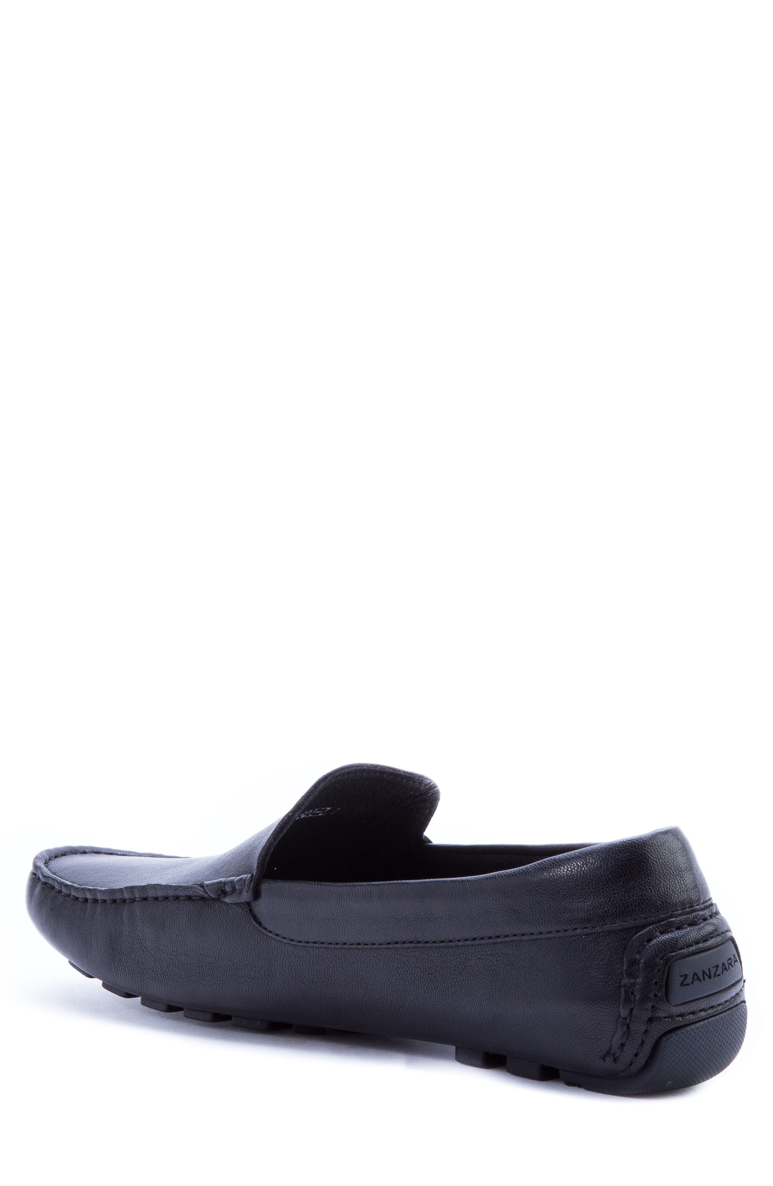 Picasso 3 Moc Toe Driving Loafer,                             Alternate thumbnail 2, color,                             BLACK LEATHER