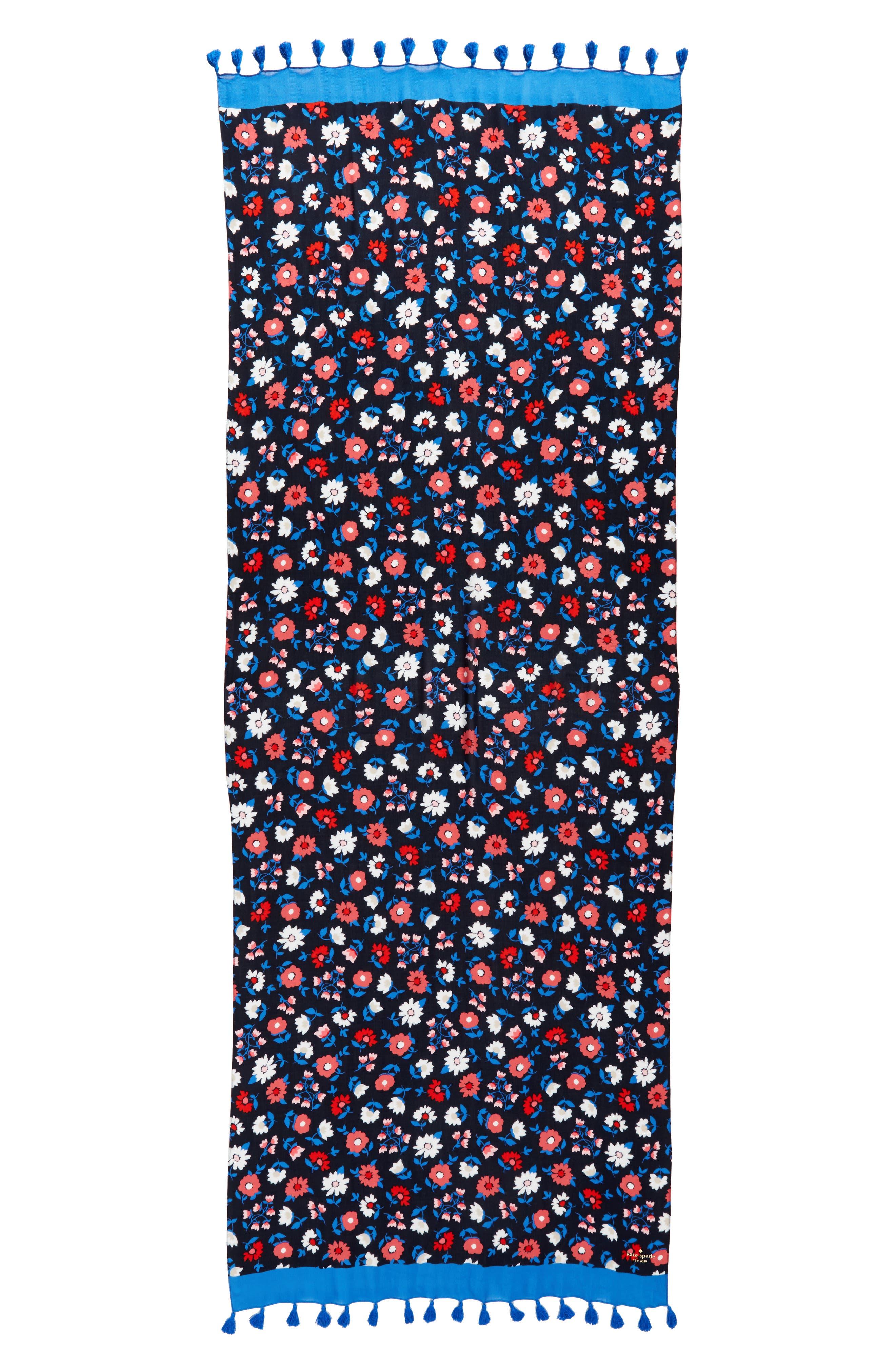 daisy scarf,                             Alternate thumbnail 3, color,                             RICH NAVY