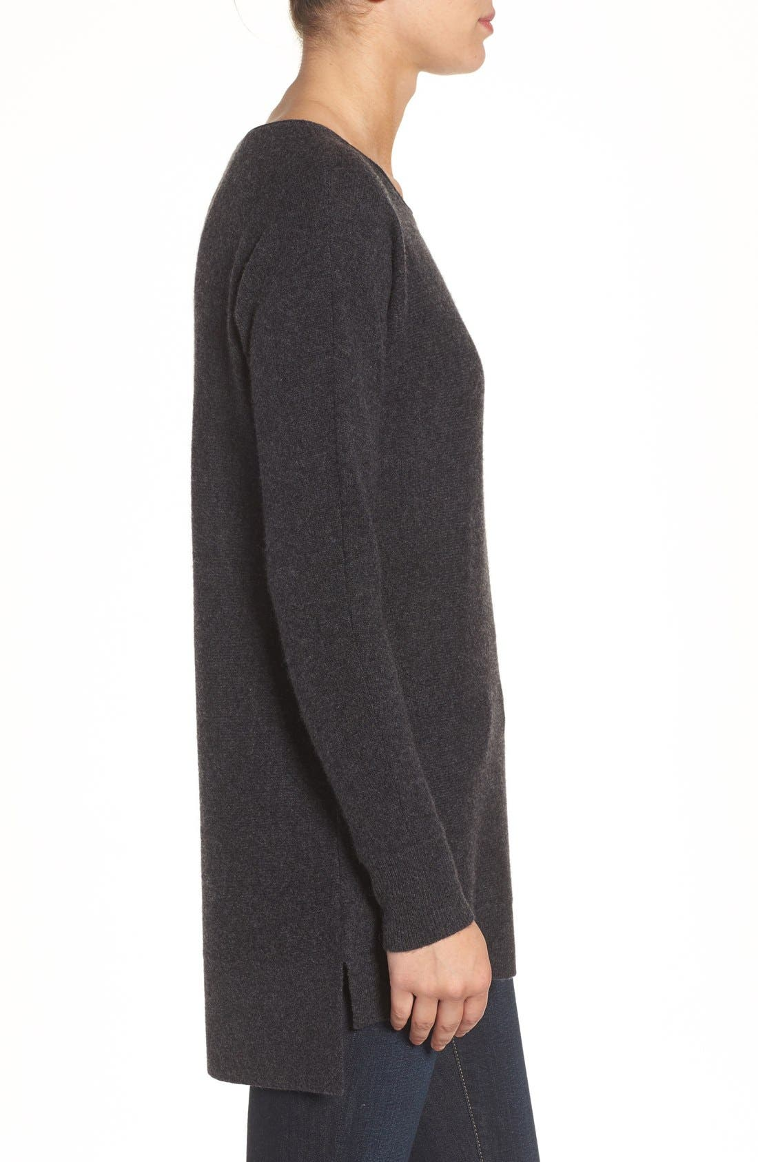 High/Low Wool & Cashmere Tunic Sweater,                             Alternate thumbnail 38, color,