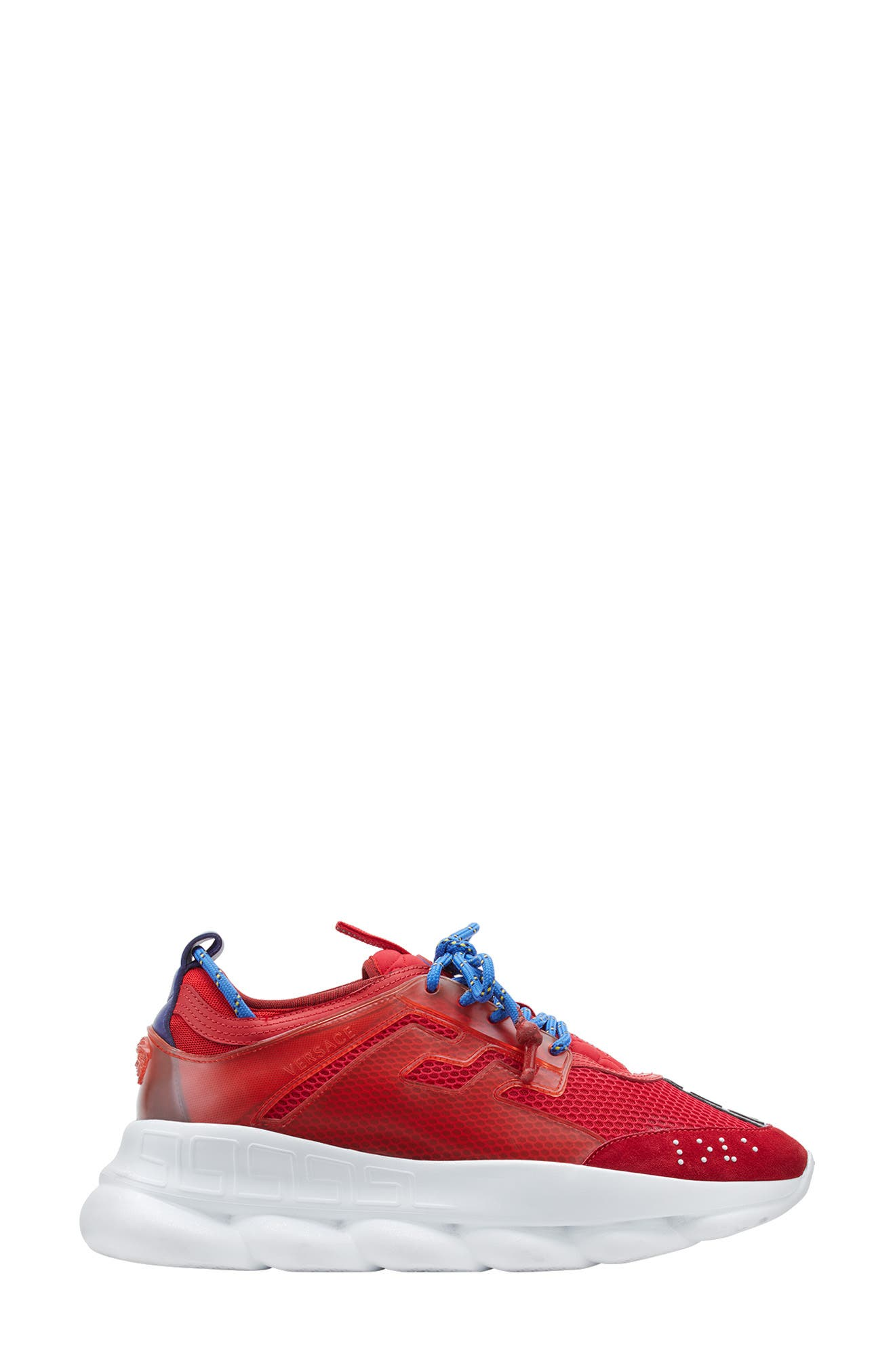 Versace Chain Reaction Sneaker,                             Alternate thumbnail 2, color,                             RED