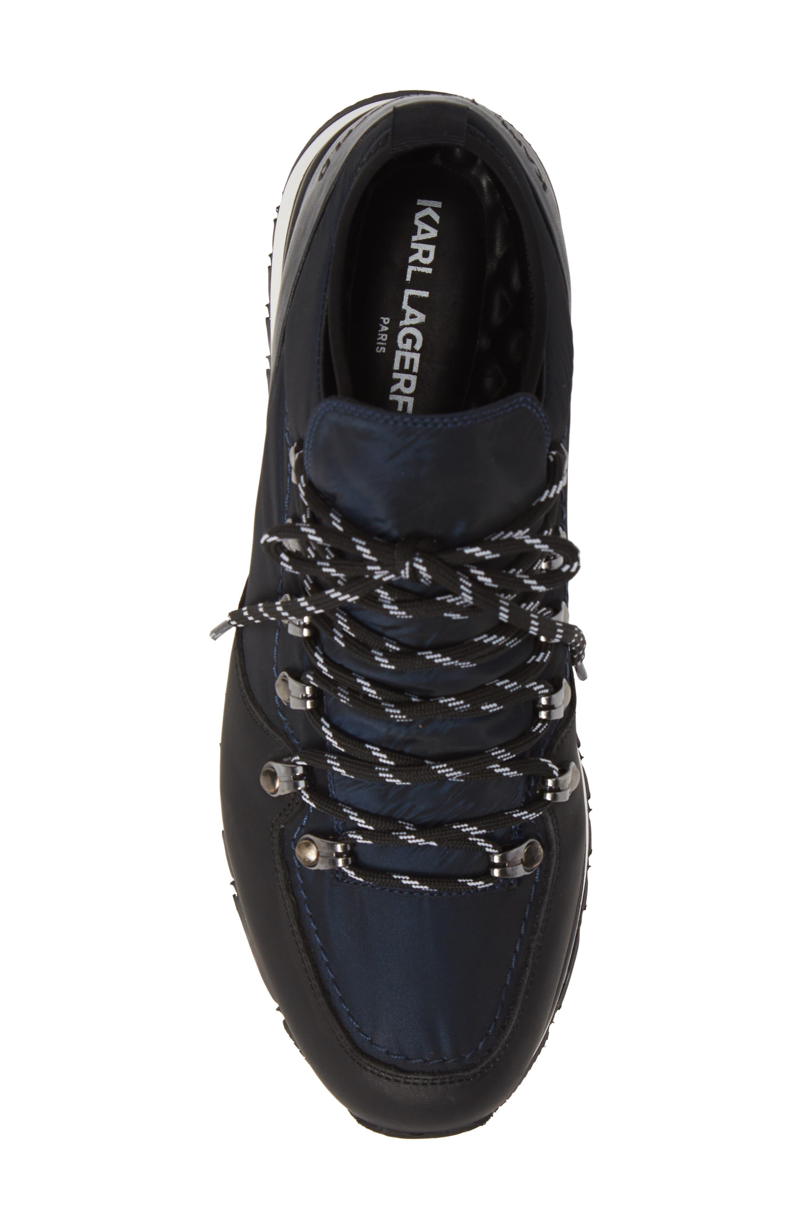 Low Top Hiker Sneaker,                             Alternate thumbnail 5, color,                             NAVY