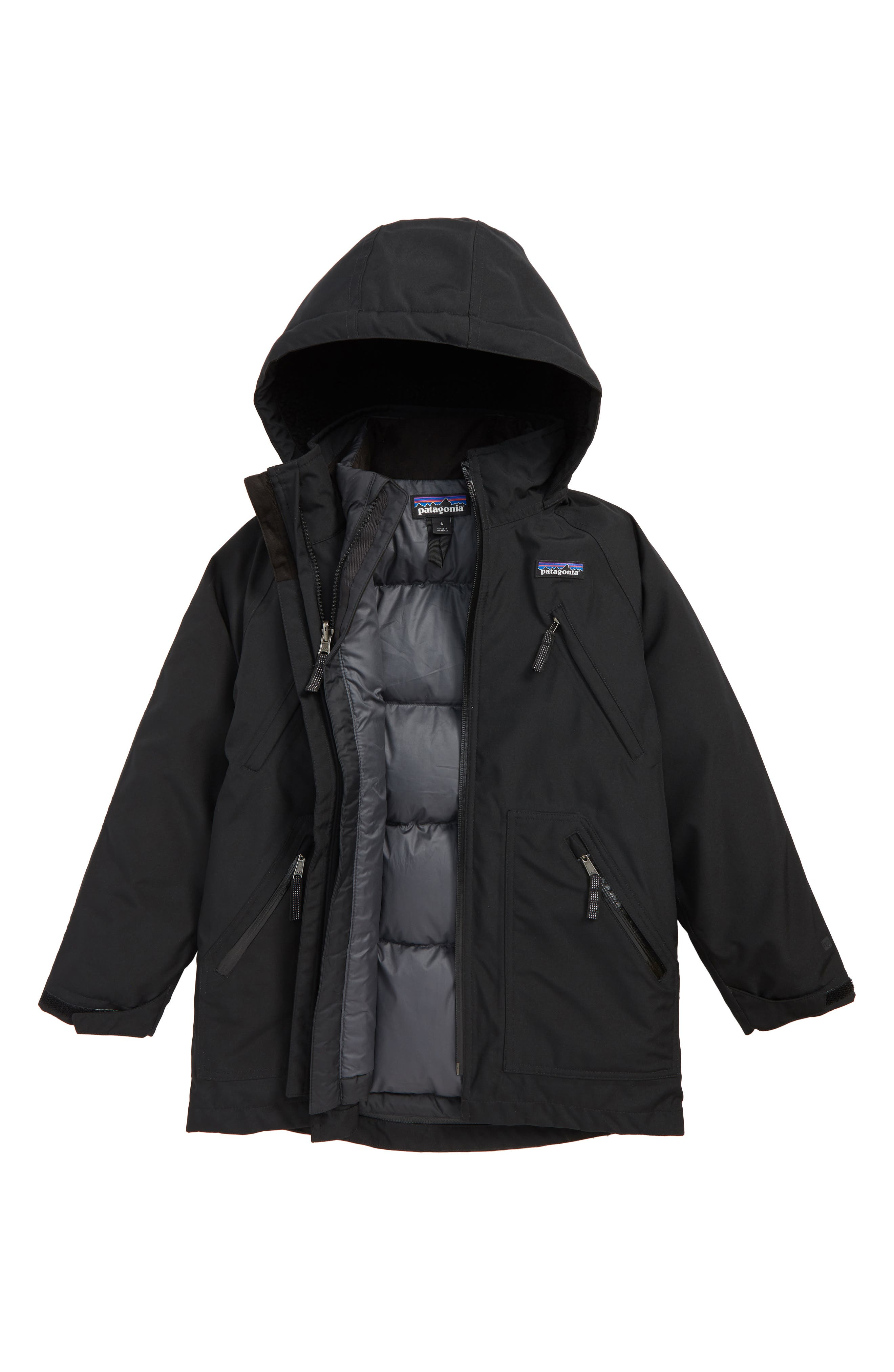 Tres Water Repellent 3-in-1 Recycled Down Parka,                             Main thumbnail 1, color,                             001