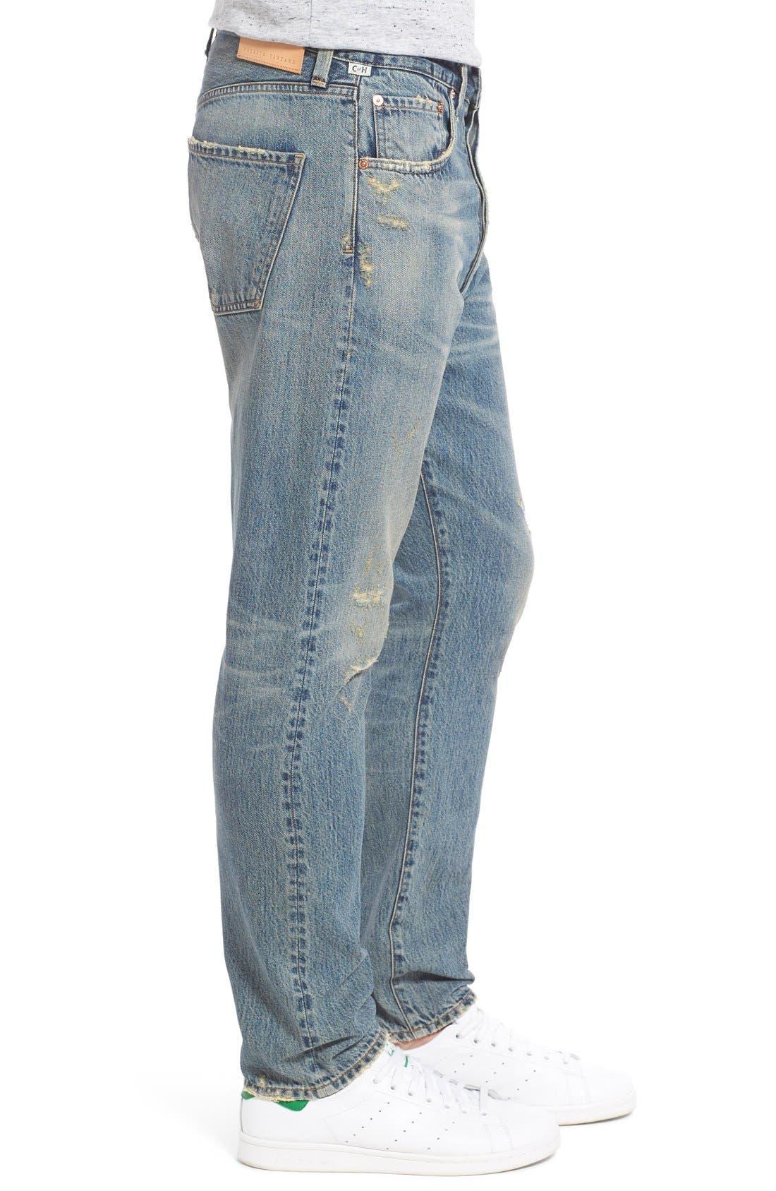 Rowan Slouchy Skinny Fit Jeans,                             Alternate thumbnail 3, color,                             462