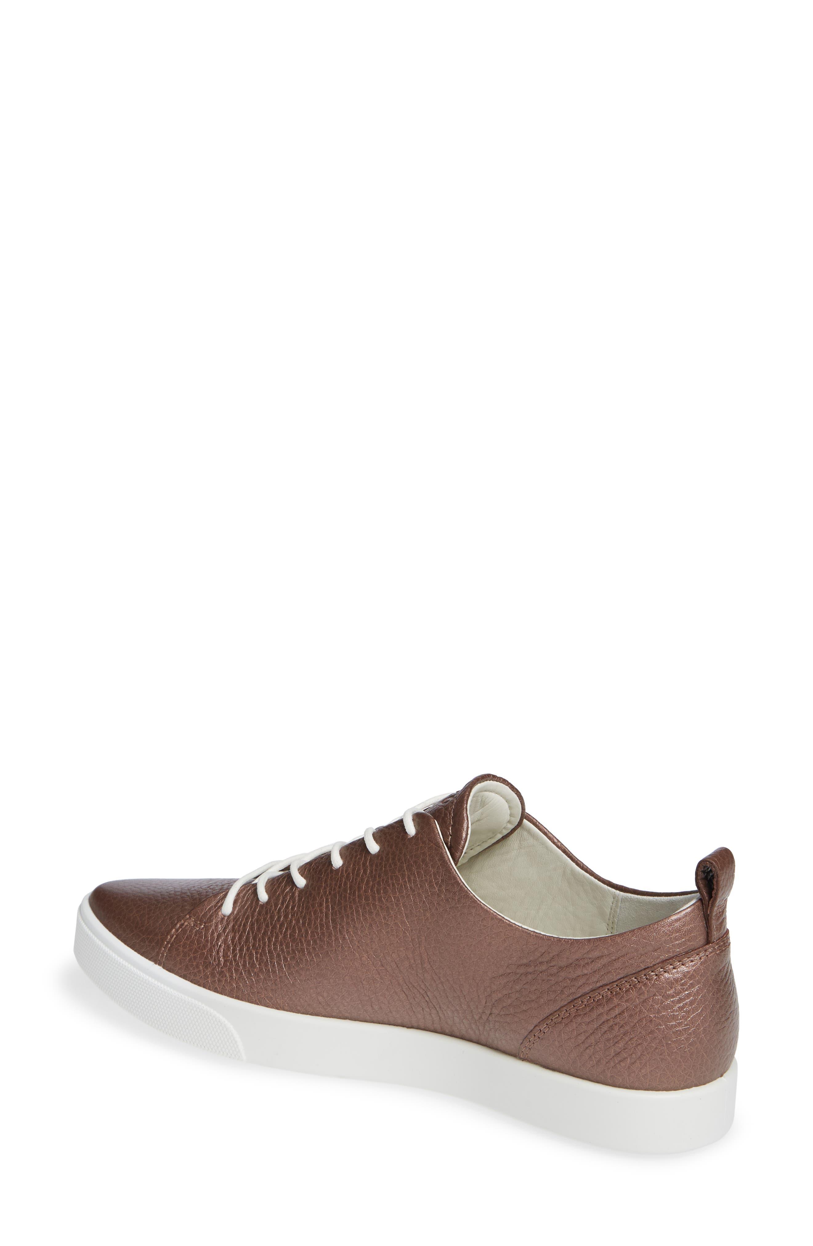 Gillian Sneaker,                             Alternate thumbnail 2, color,                             DEEP TAUPE/ BRONZE LEATHER