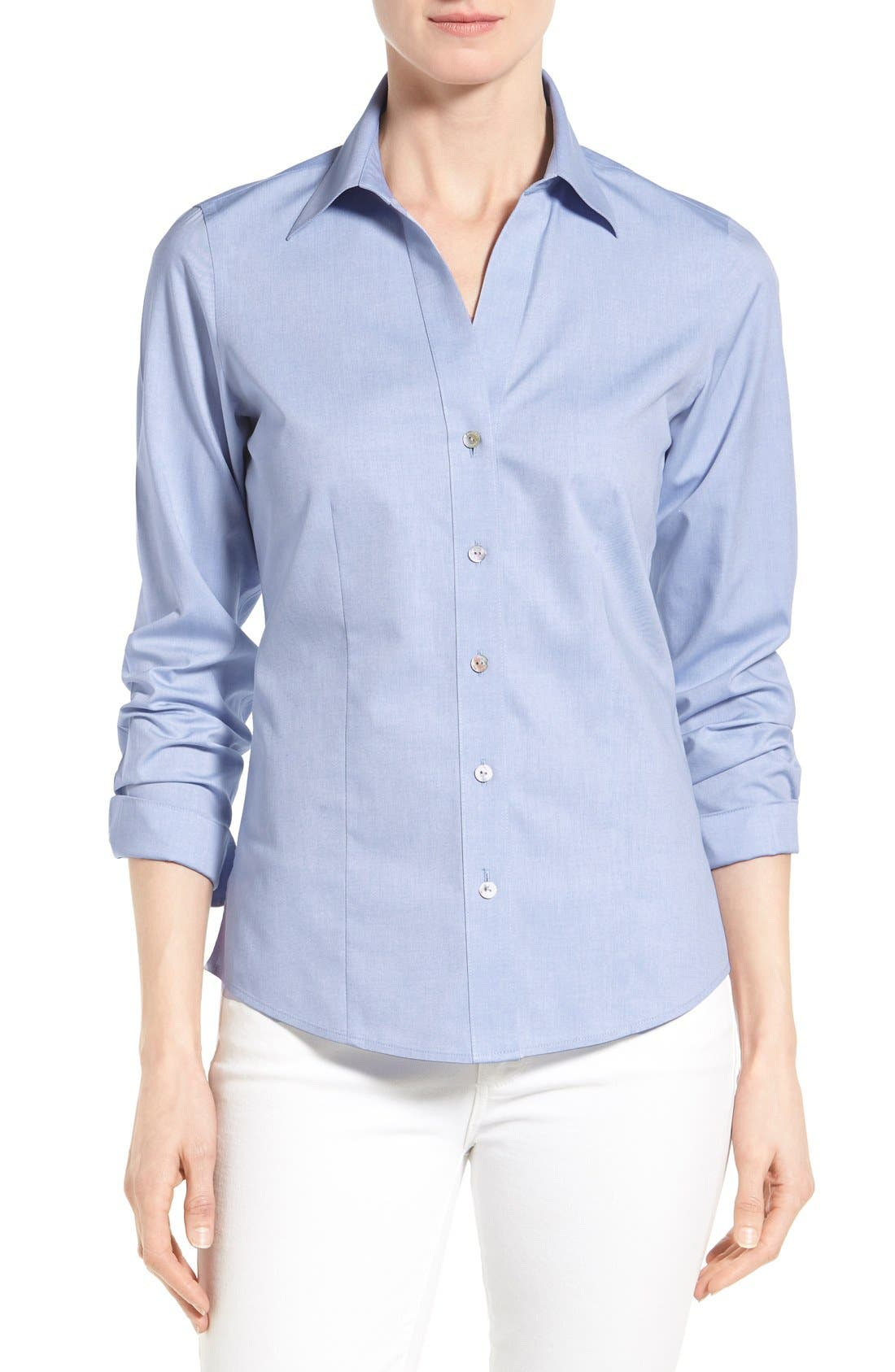 Non-Iron Fitted Shirt,                             Main thumbnail 4, color,