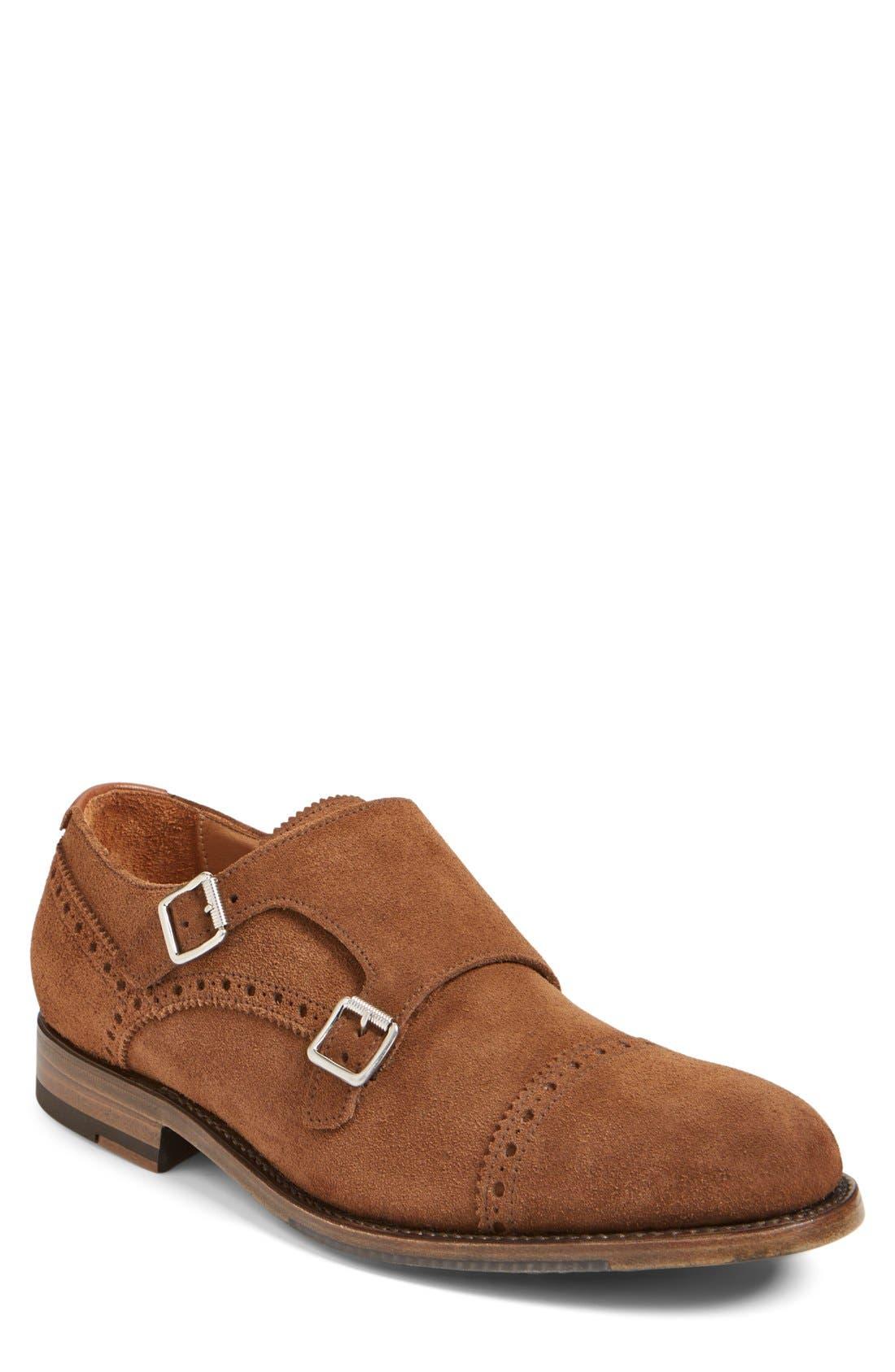 'Fallon' Weatherproof Monk Strap Shoe,                             Main thumbnail 4, color,