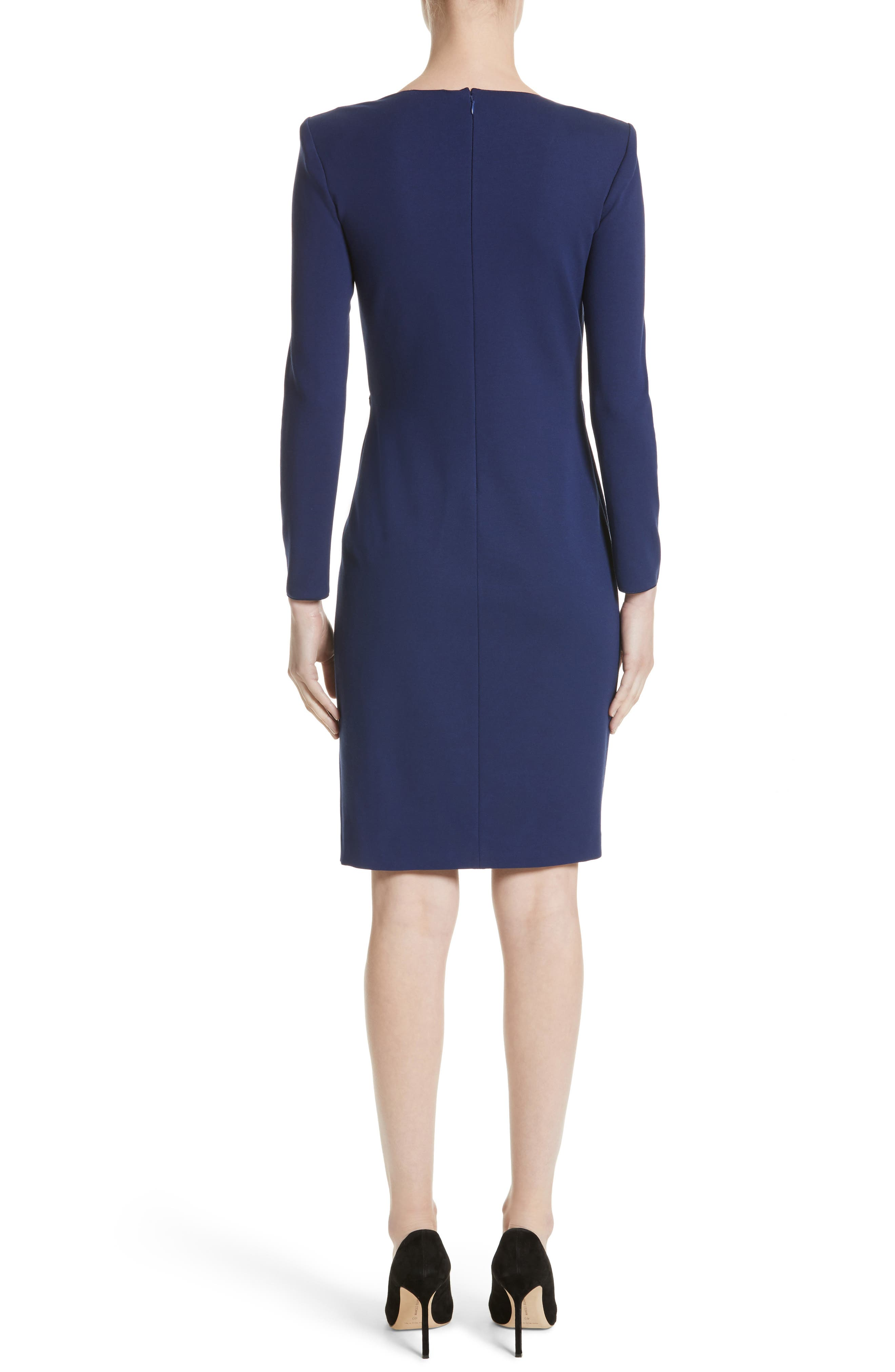Side Gather Milano Jersey Dress,                             Alternate thumbnail 2, color,                             484