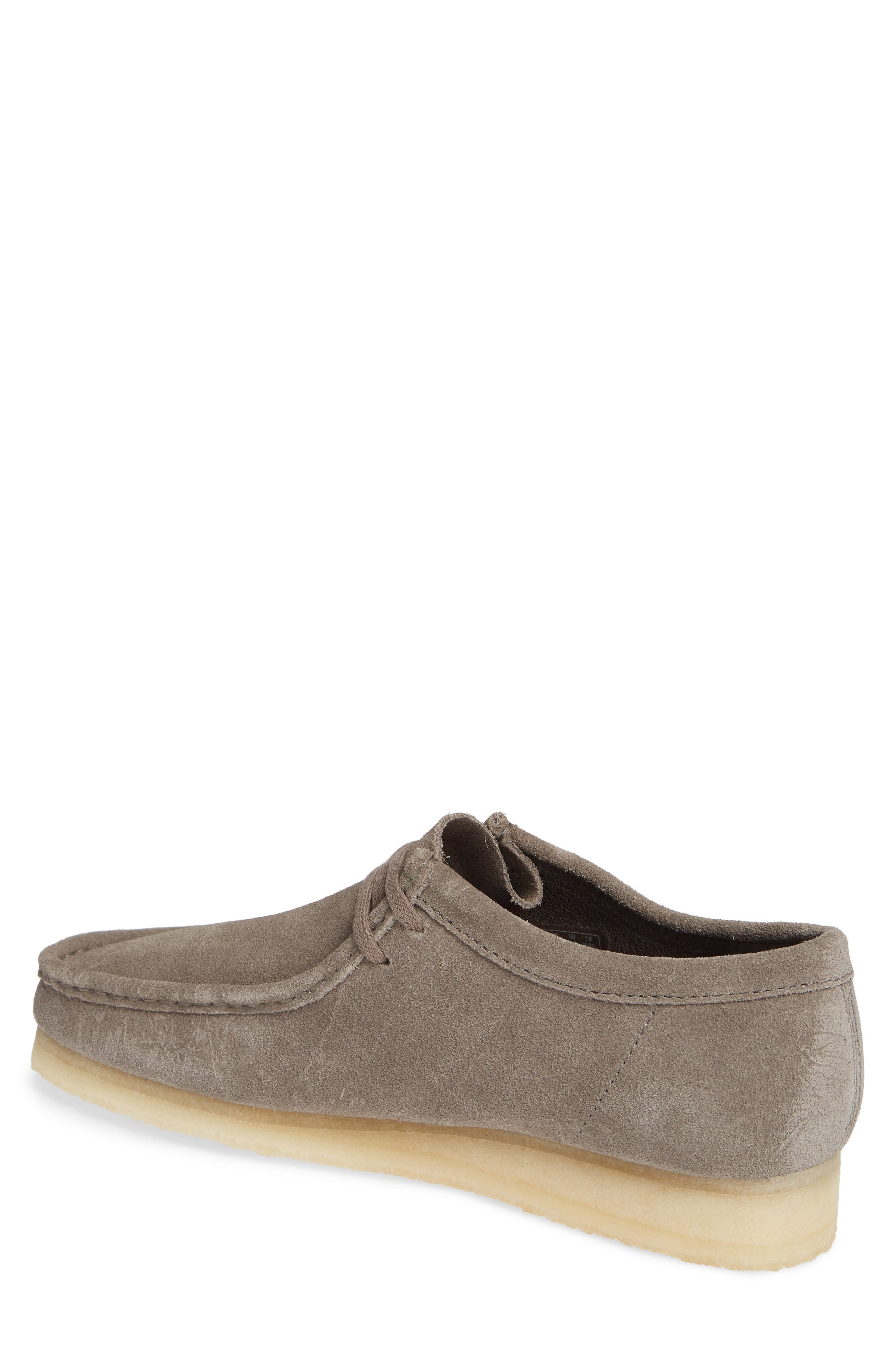 'Wallabee' Moc Toe Derby,                             Alternate thumbnail 2, color,                             GREY LEATHER