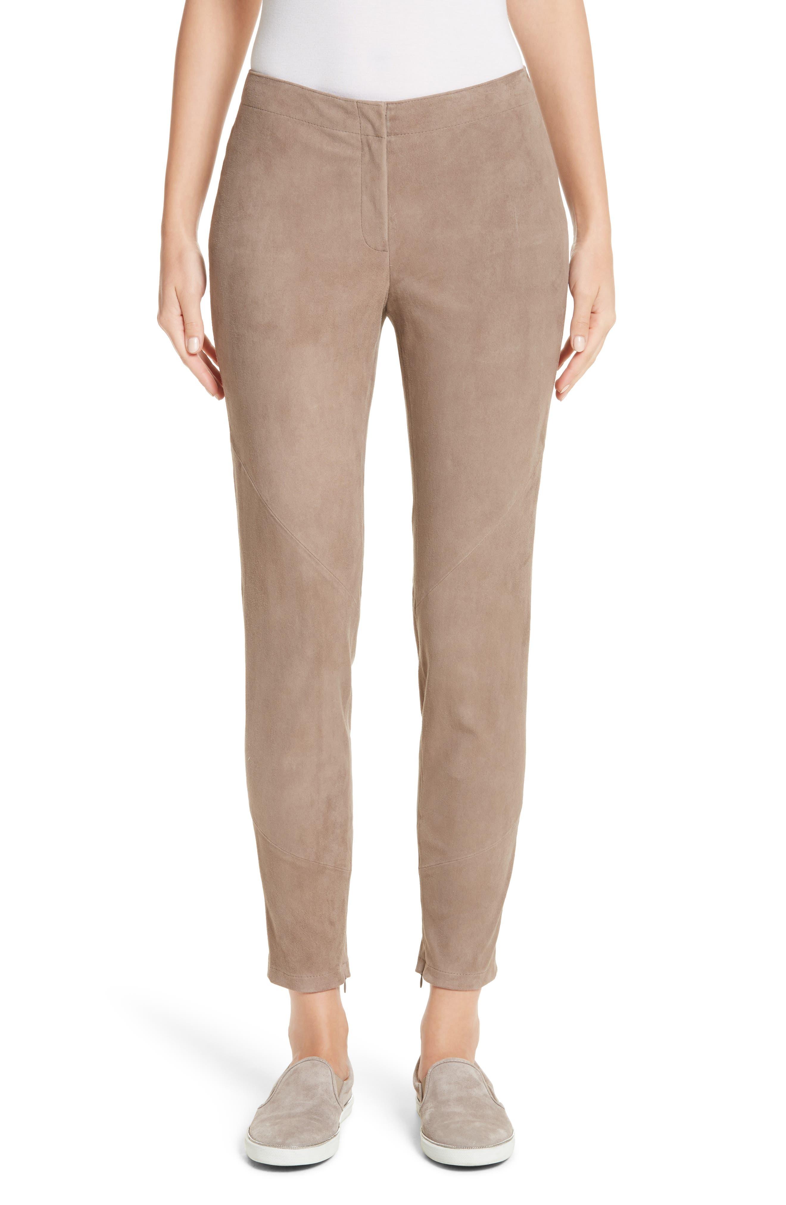 Slim Suede Pants,                         Main,                         color, 250