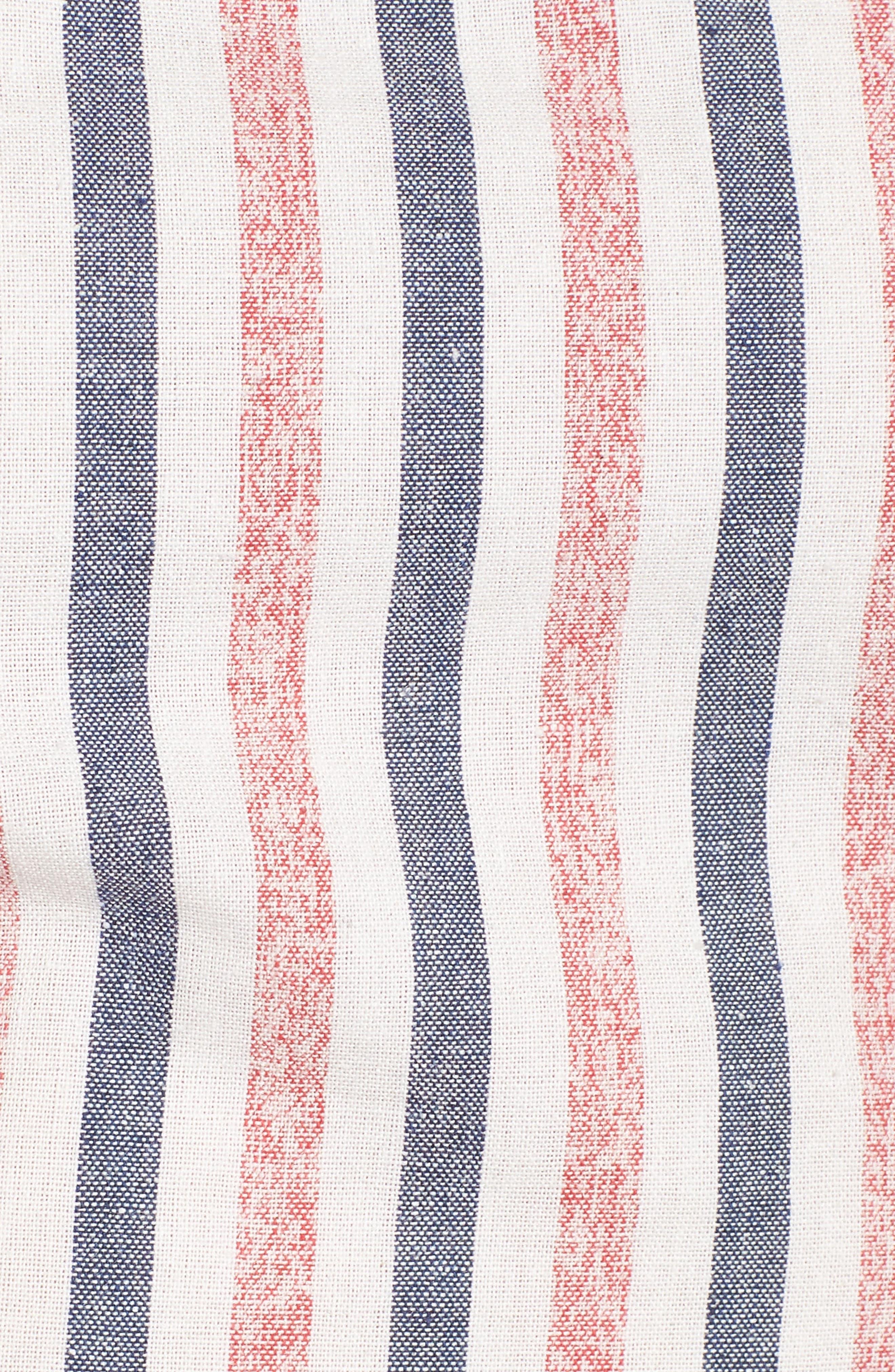 Tie Front Crop Top,                             Alternate thumbnail 5, color,                             400