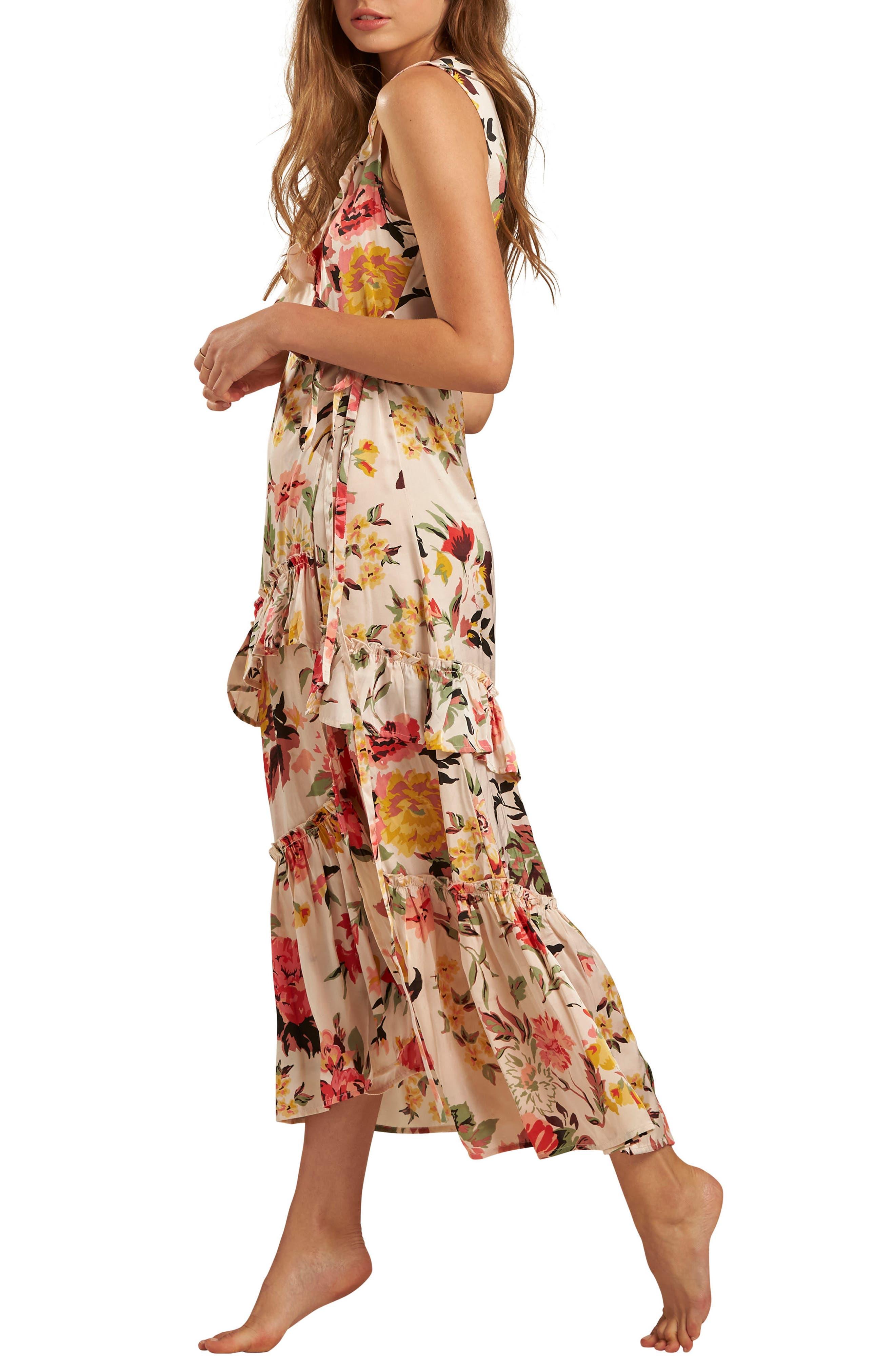 Ruffle Wrap Dress,                             Alternate thumbnail 8, color,