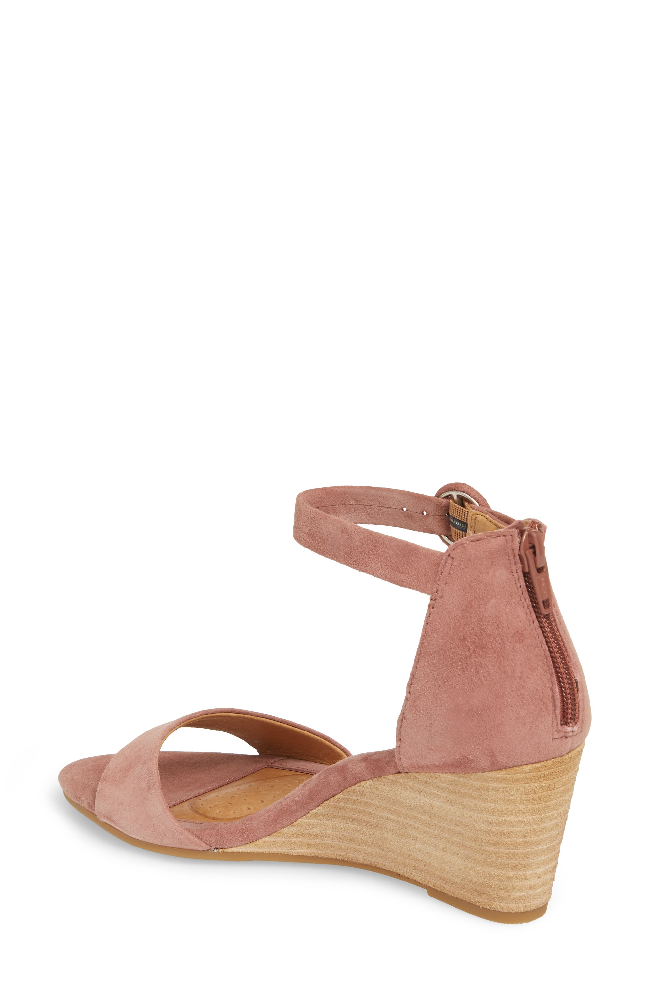Marla Wedge Sandal,                             Alternate thumbnail 2, color,                             MULBERRY SUEDE