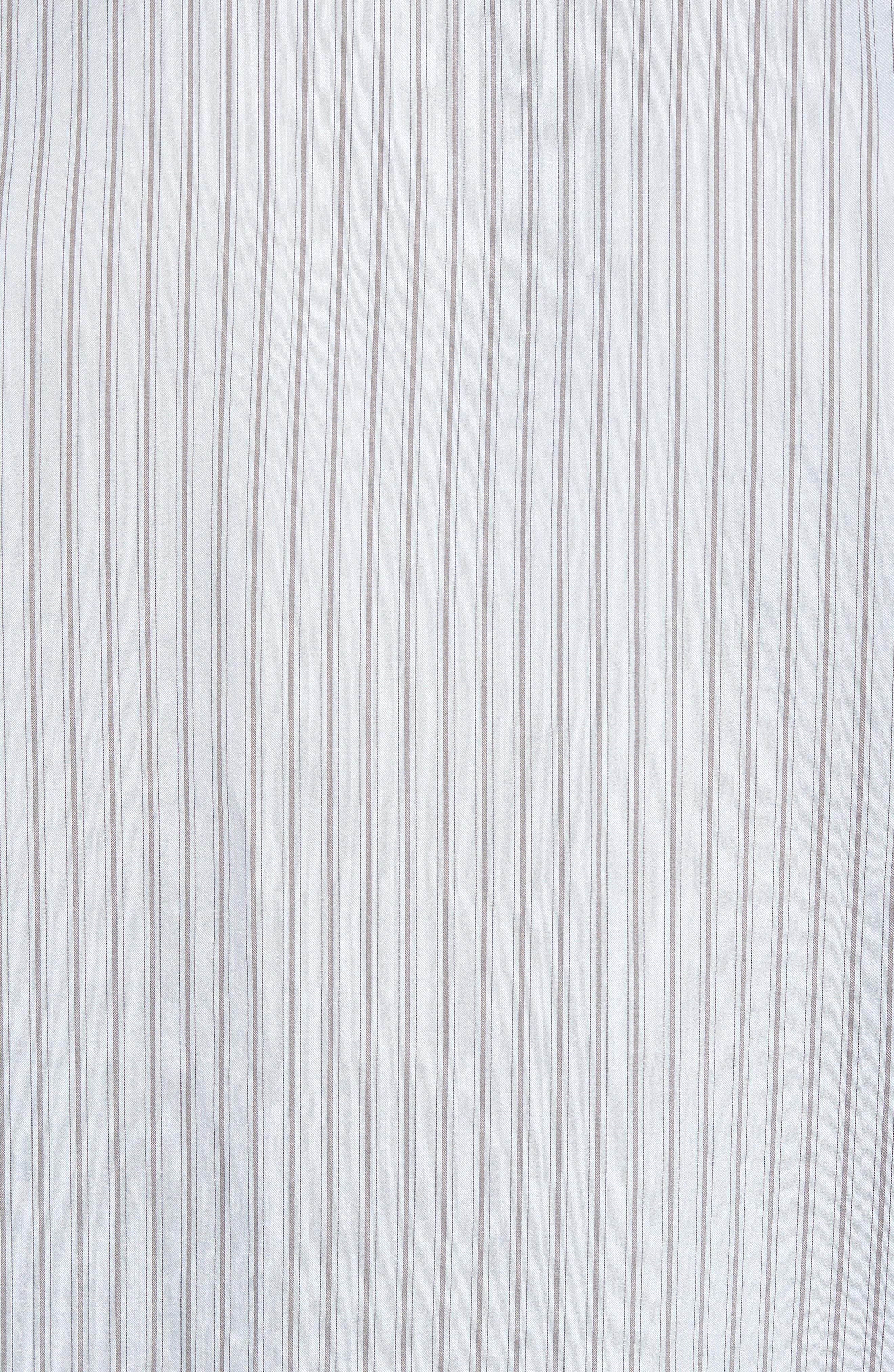 Slim Fit Stretch Stripe Sport Shirt,                             Alternate thumbnail 5, color,                             461