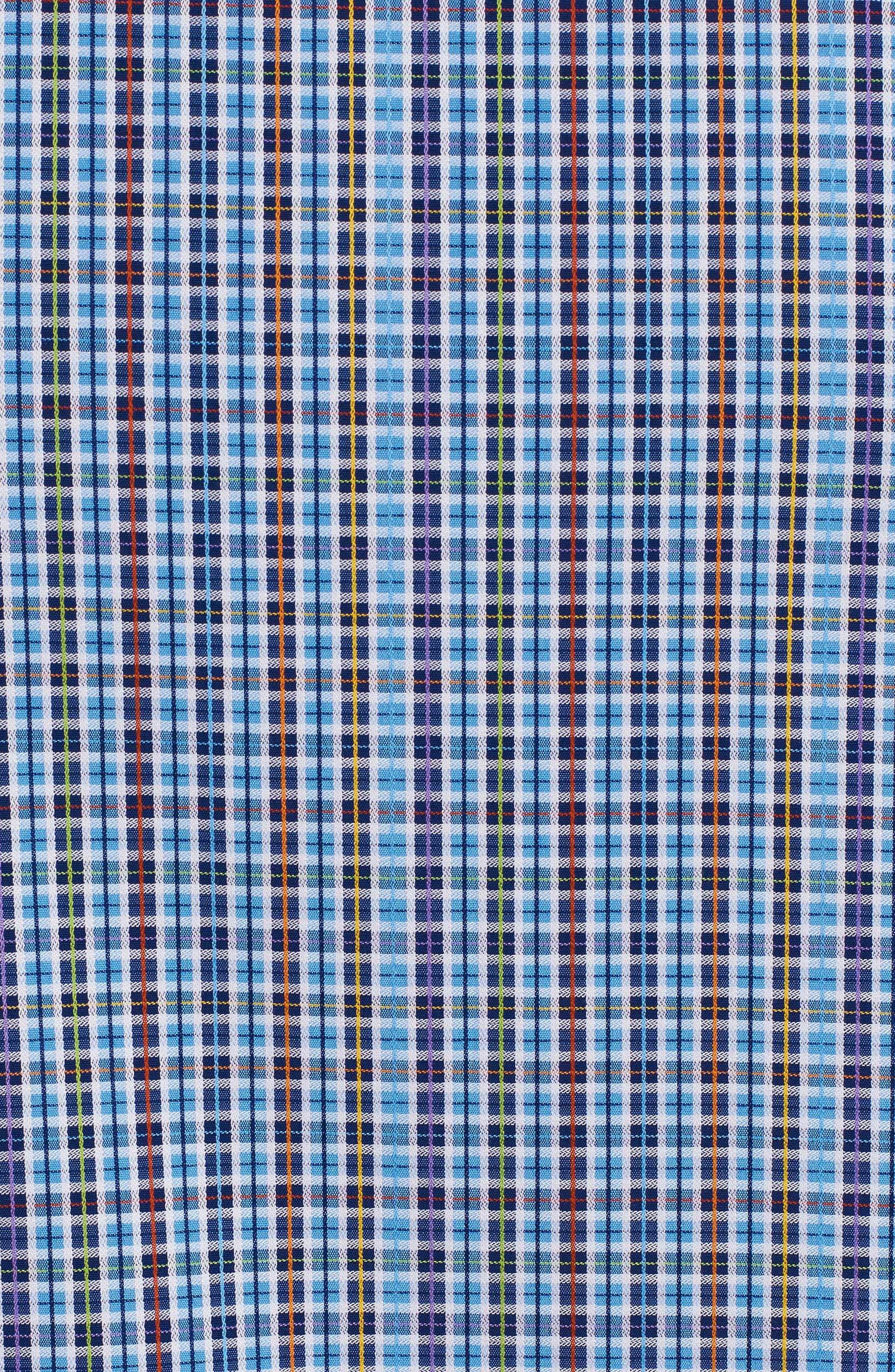 Palma Classic Fit Plaid Sport Shirt,                             Alternate thumbnail 4, color,                             450
