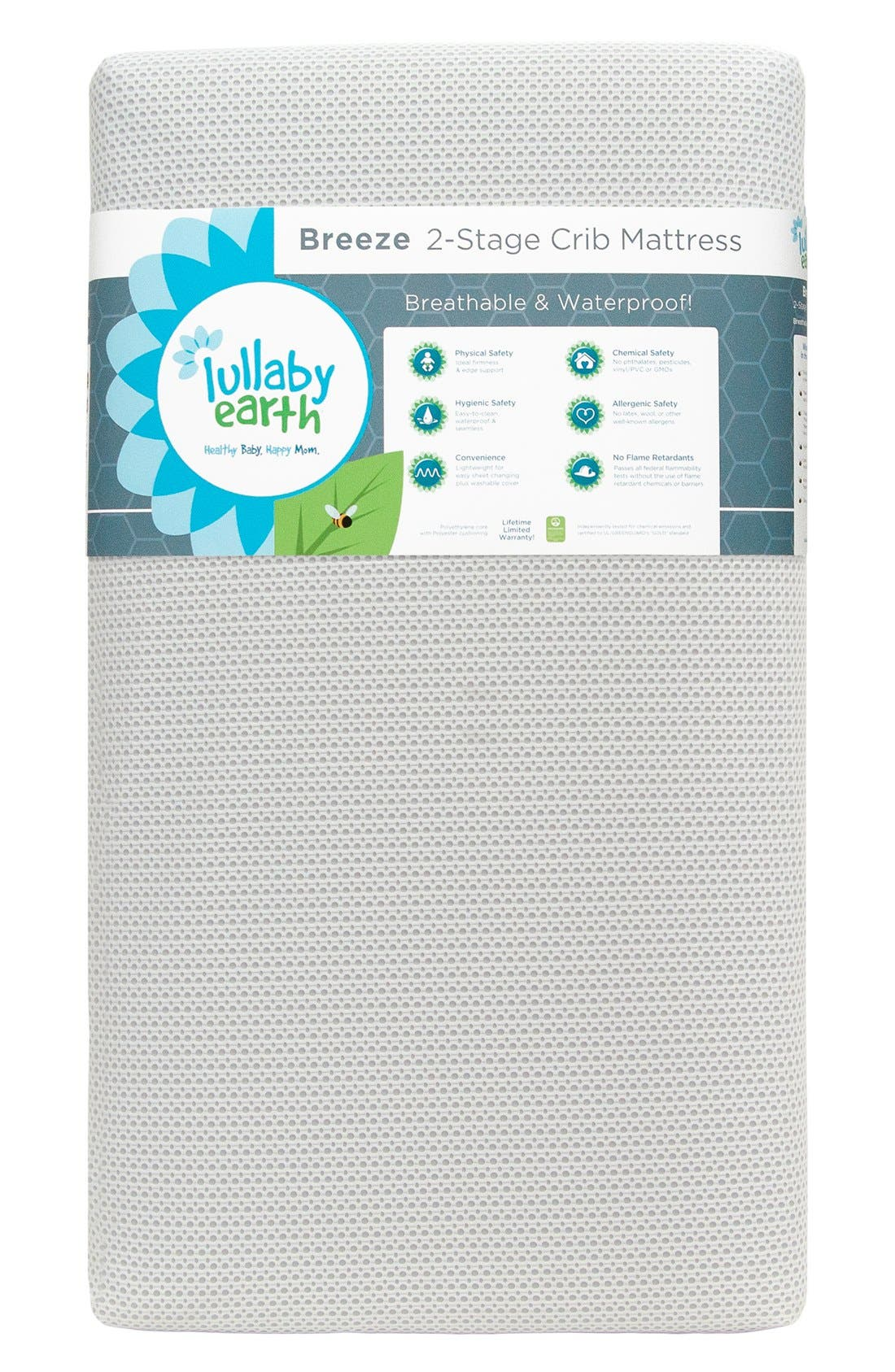 'Breeze' Two Stage Crib Mattress,                             Main thumbnail 2, color,
