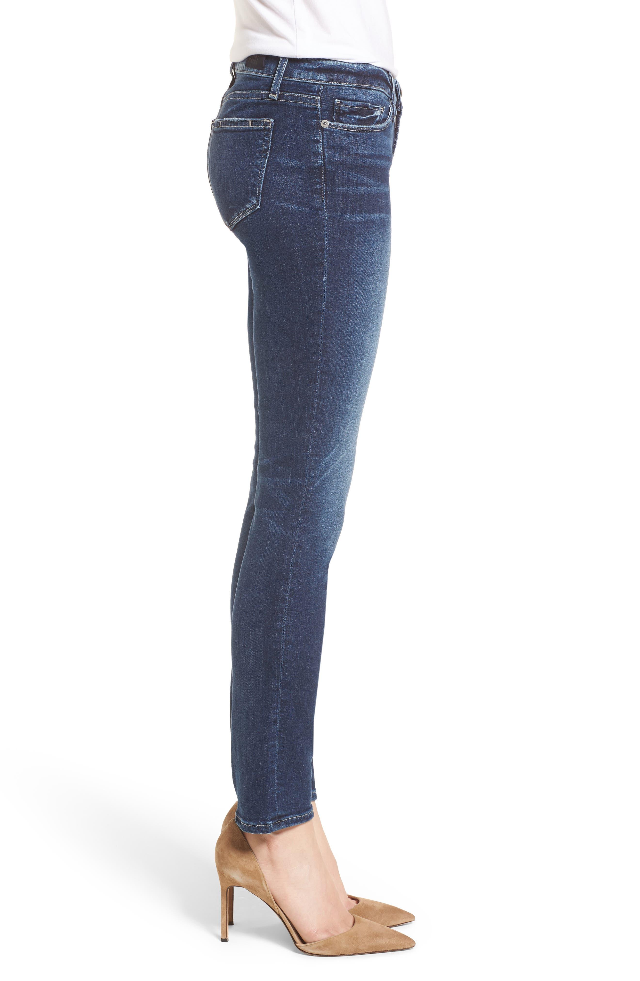 Transcend Vintage - Skyline Skinny Jeans,                             Alternate thumbnail 3, color,                             400