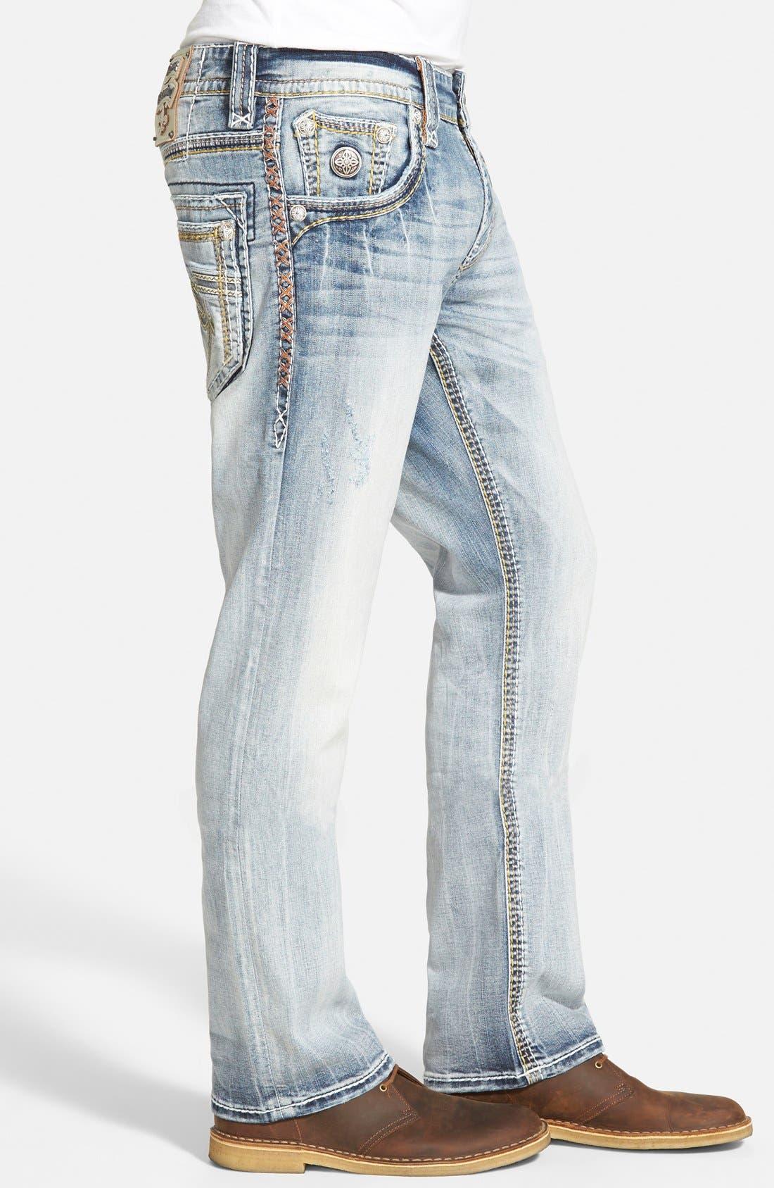 Straight Leg Jeans,                             Alternate thumbnail 4, color,                             431