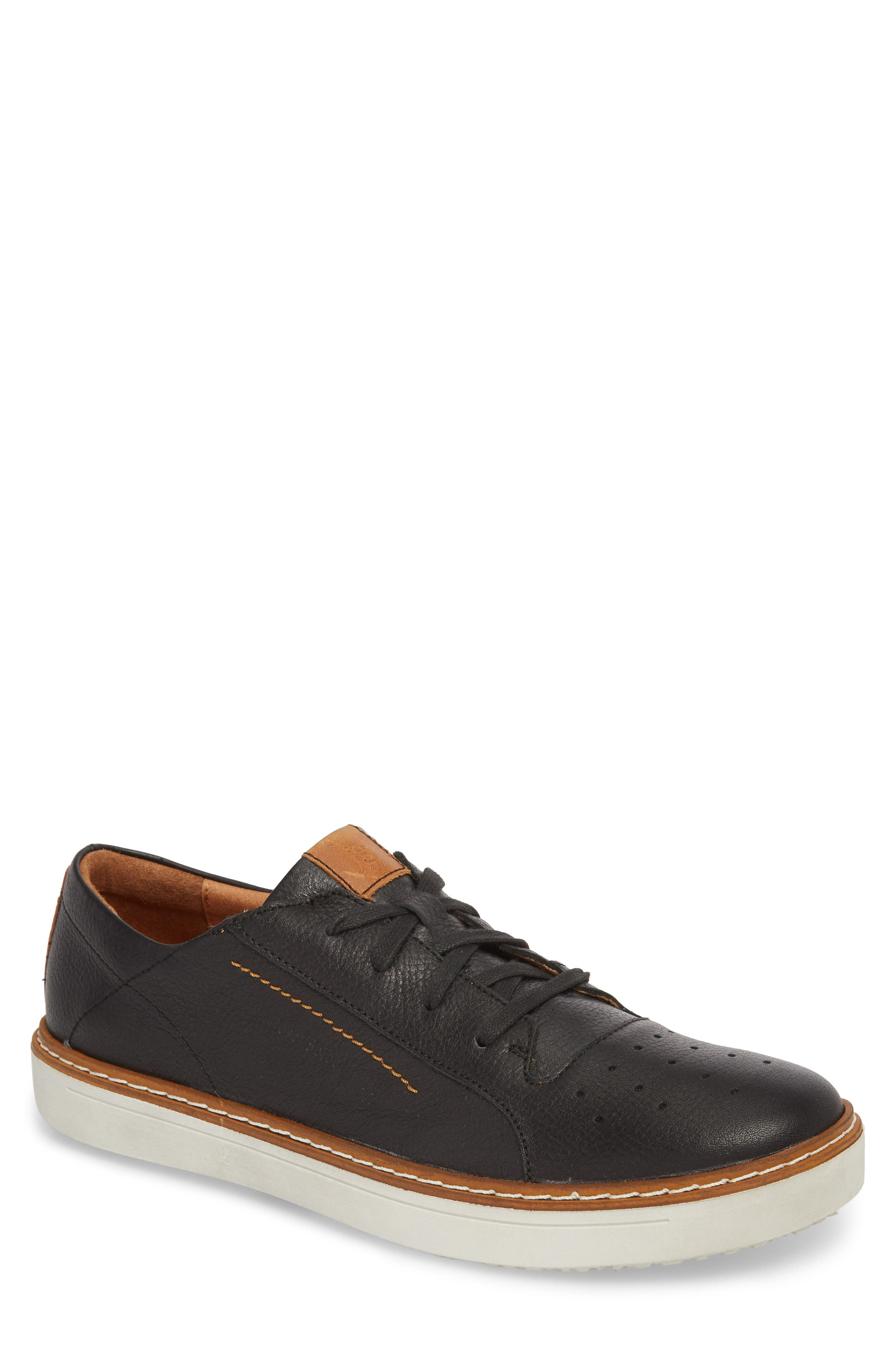 Quentin 03 Low Top Sneaker,                         Main,                         color, BLACK KOMBI LEATHER