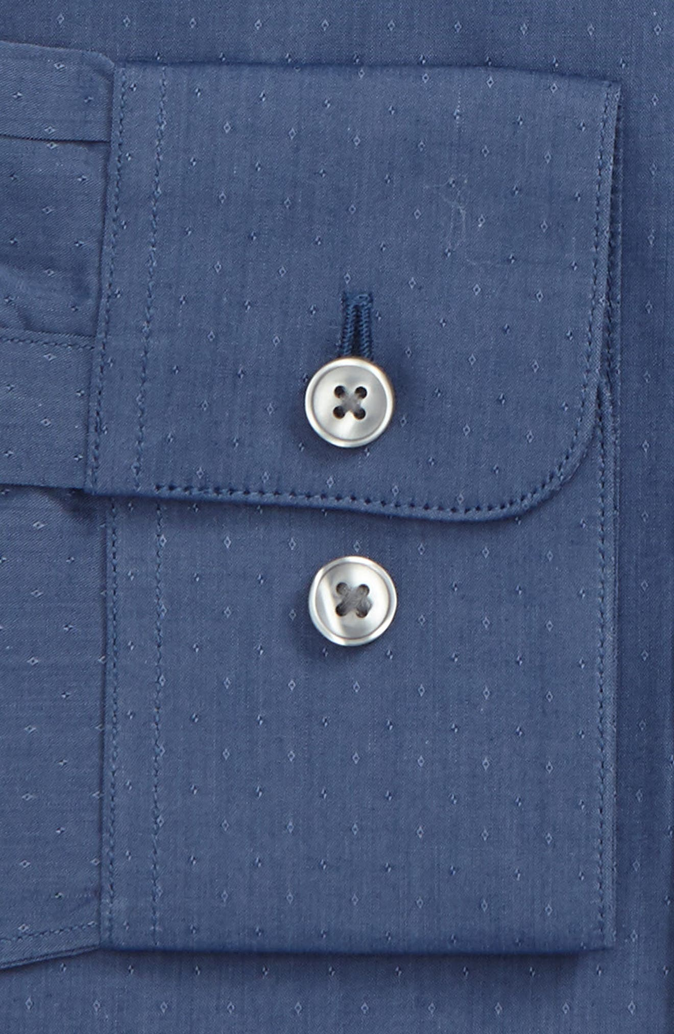 Slim Fit Stretch Dot Dress Shirt,                             Alternate thumbnail 2, color,                             439