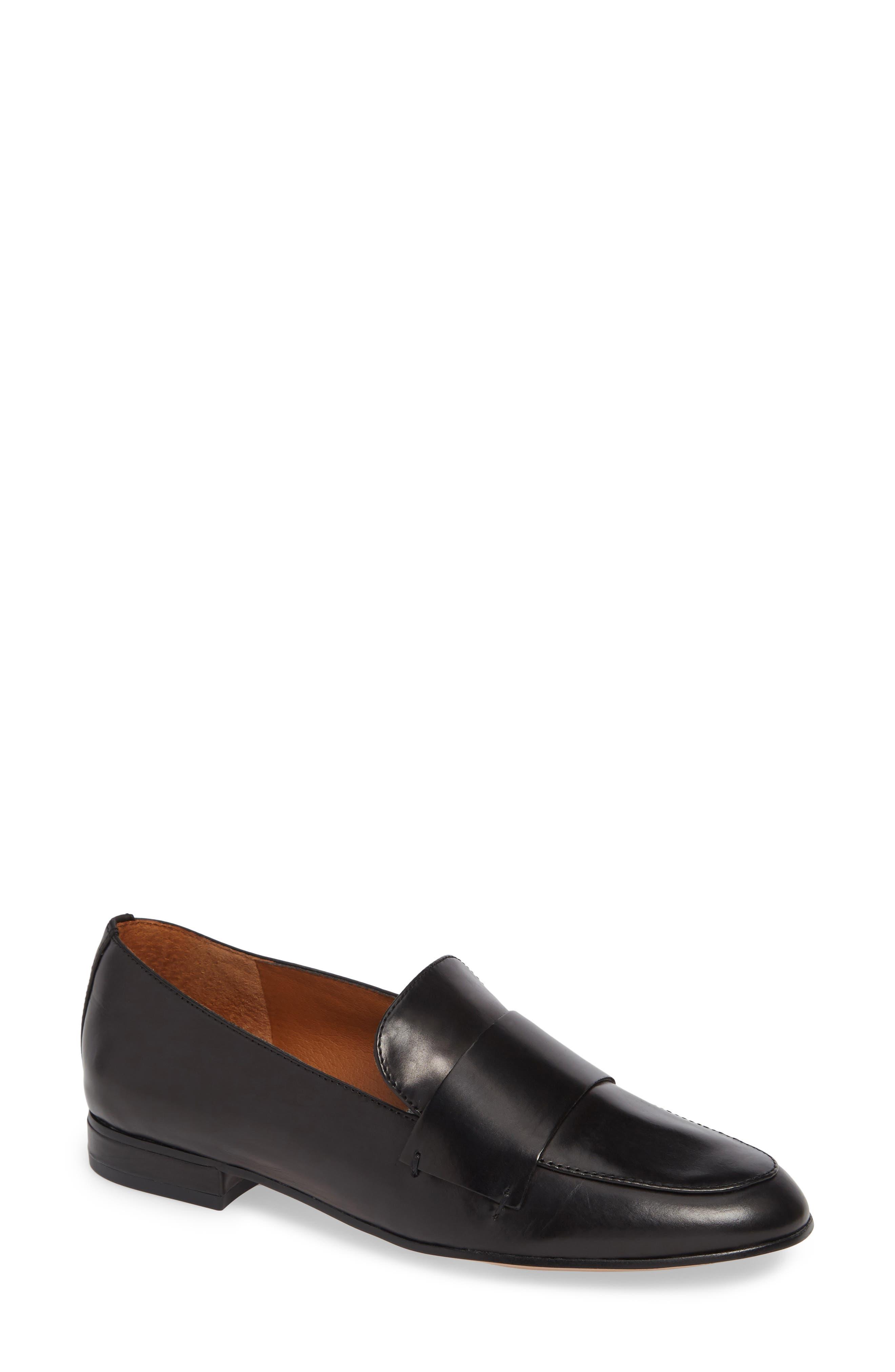 Kip Loafer,                         Main,                         color, BLACK LEATHER