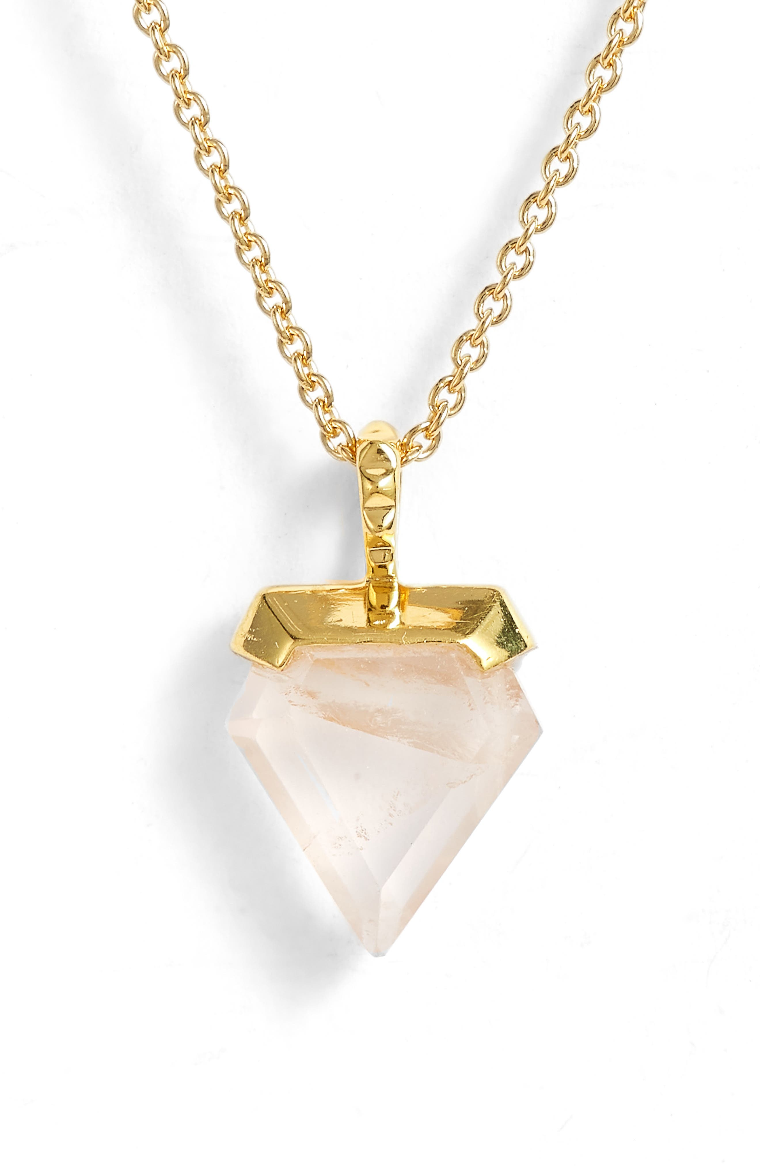 Mini Shield Pendant Necklace,                             Main thumbnail 2, color,
