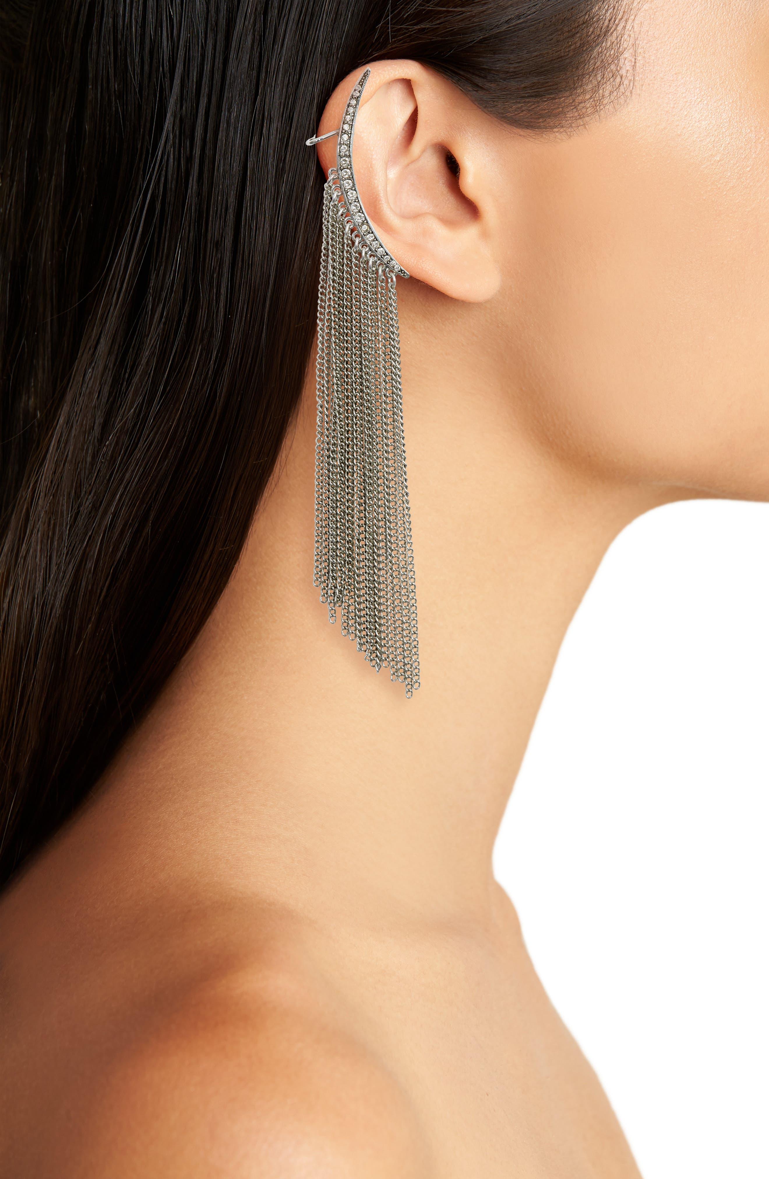 Tendril Drop Clip-On Earrings,                             Alternate thumbnail 2, color,                             040