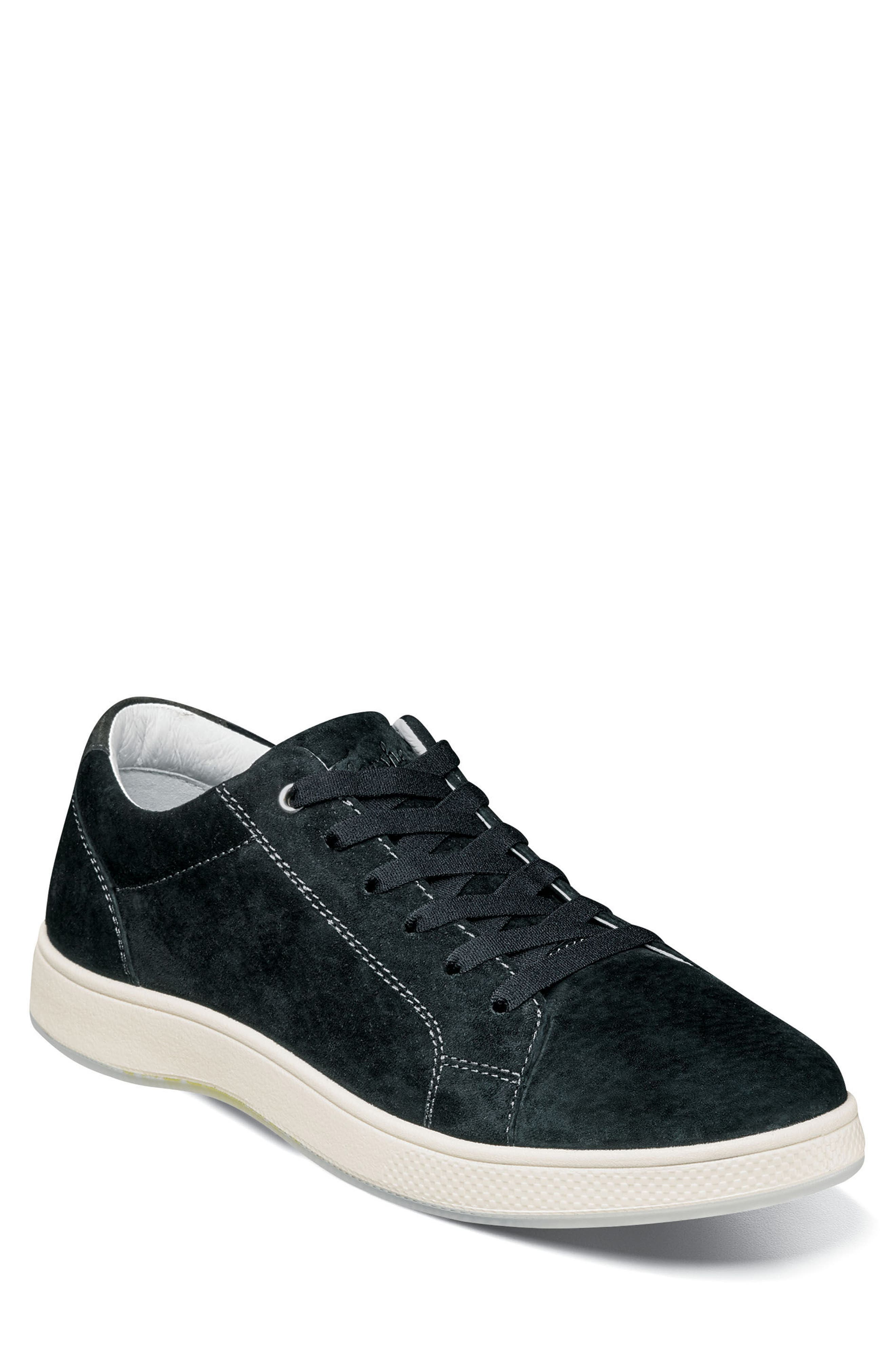 Edge Low Top Sneaker,                         Main,                         color, BLACK NUBUCK